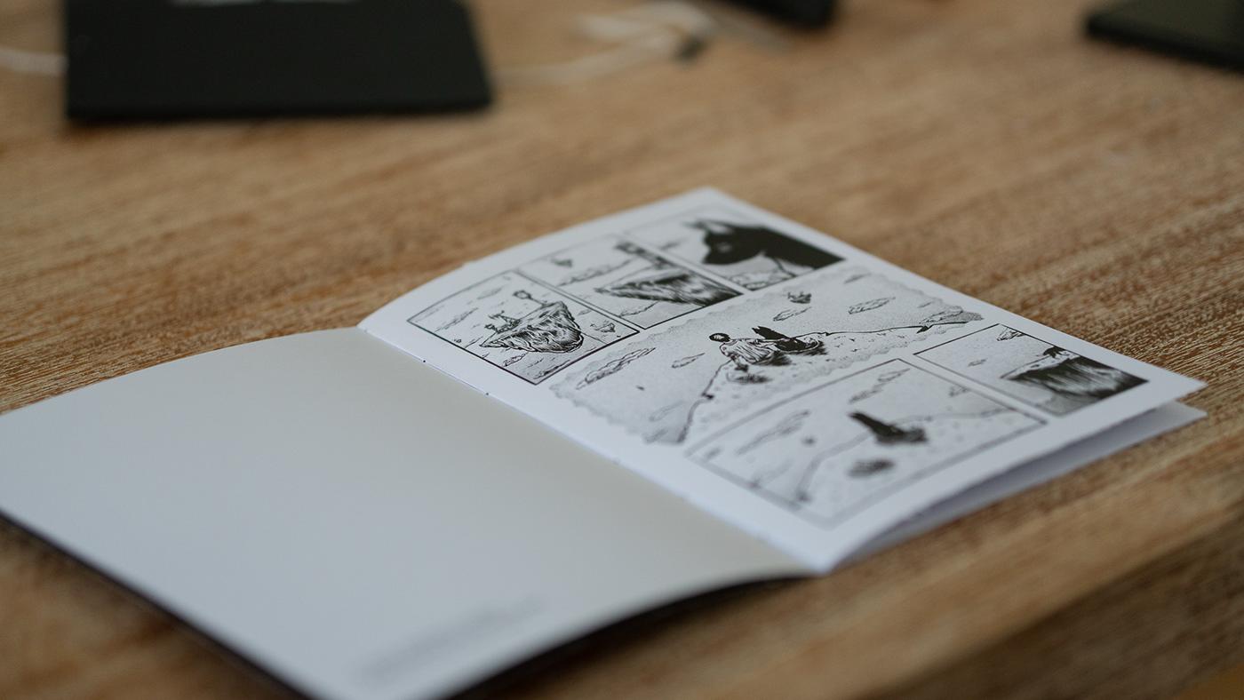 comics box clock Comic Book dog handcraft handmade linocut novel Packaging