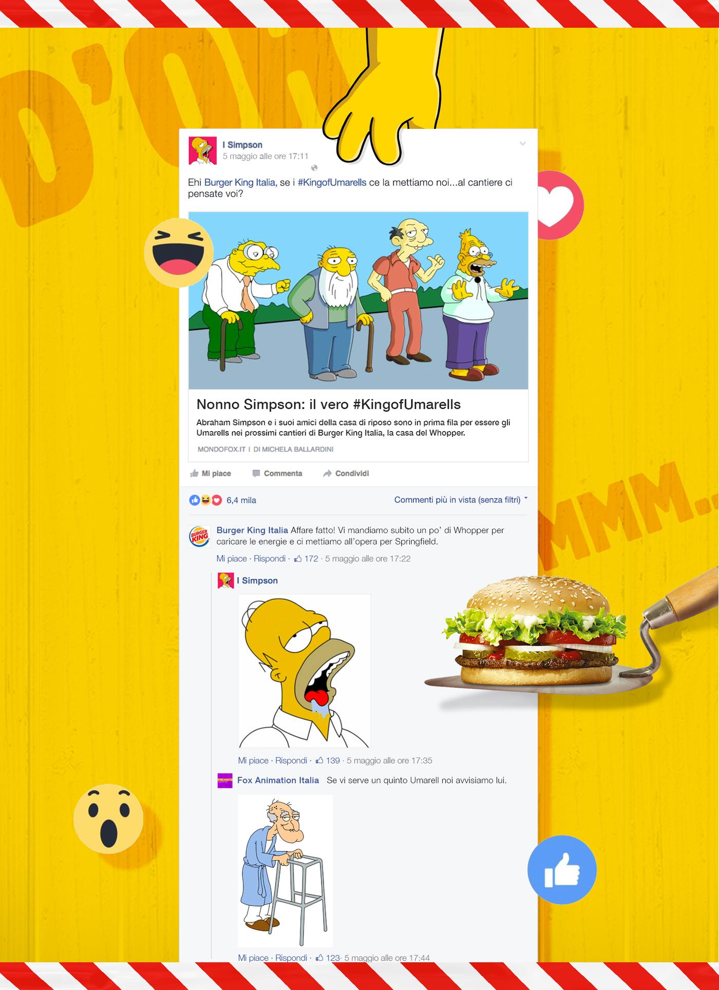 Food  hamburger burgerking burger Umarells old man fastfood integrated adci Awards