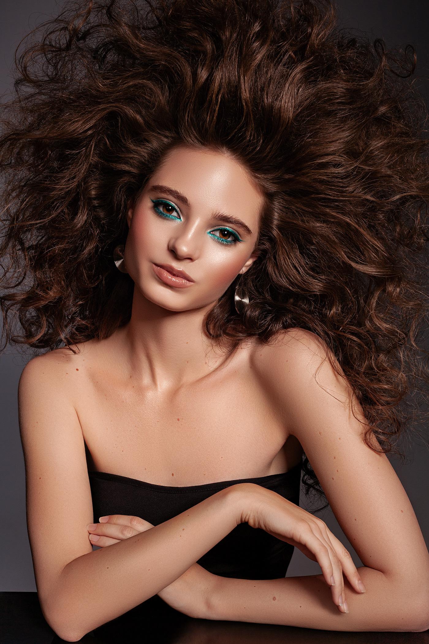 80's beauty bright make up Make Up portrait retouch retouching  Retro