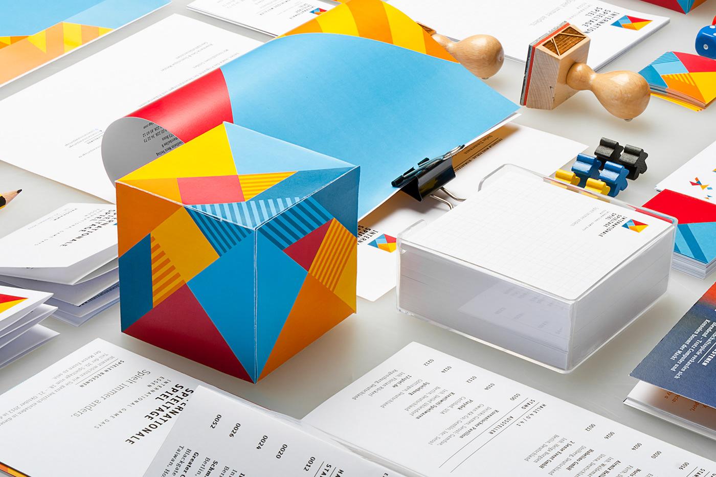 Corporate Identity Corporate Design  advertising   editorial design trade fair Fair board games essen FH Aachen tangram game logo