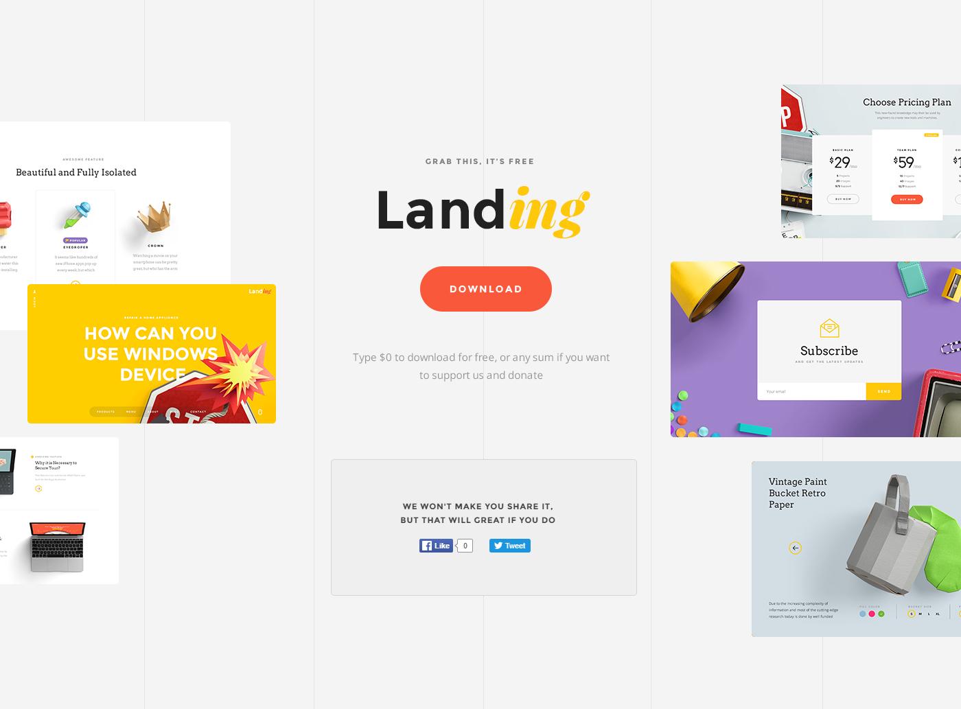 psd sketch free freebie download ui kit UI Mockup wireframe tool resource asset landing page