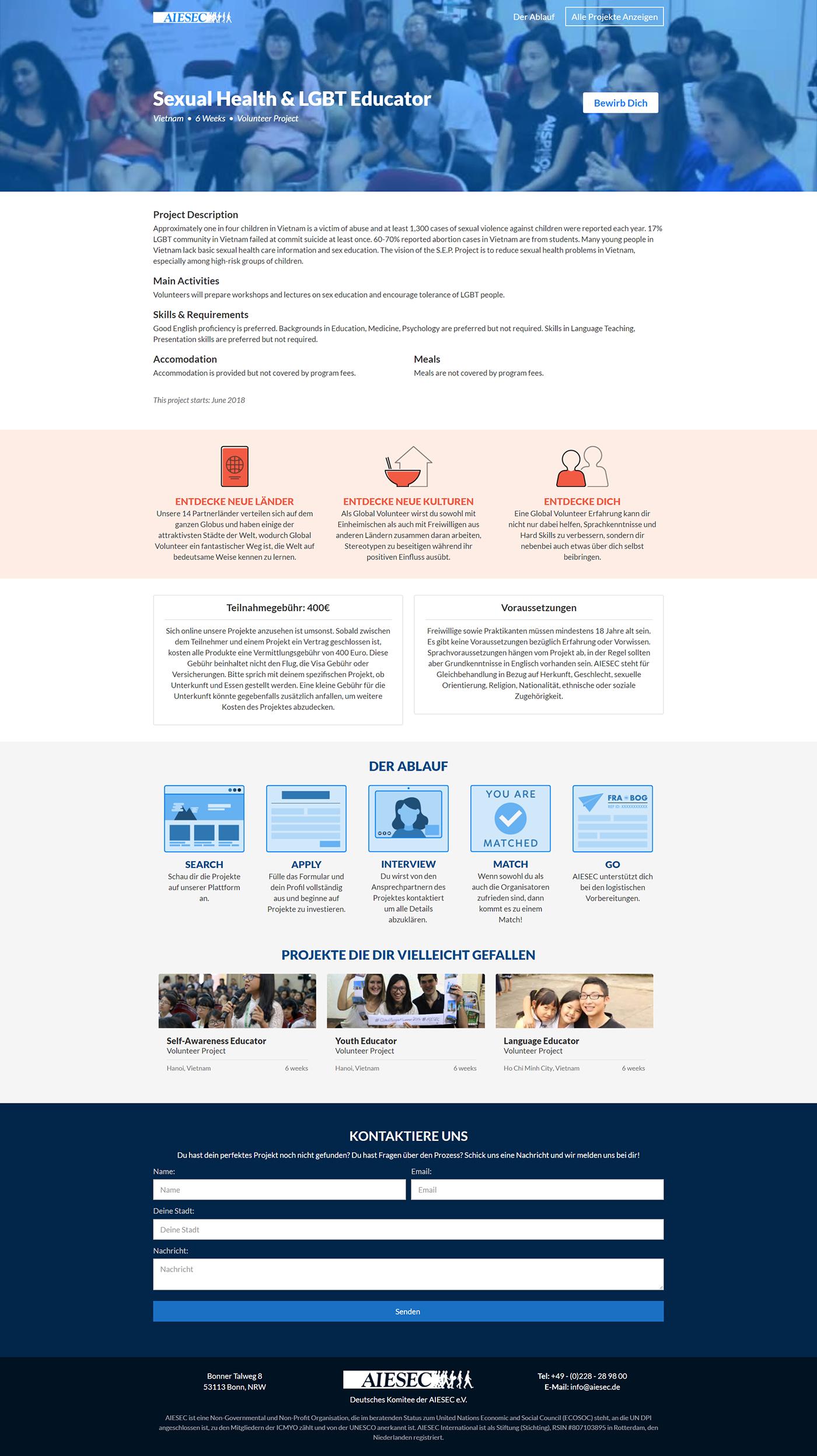 Website Web Design  Webflow internships volunteering job board hiring