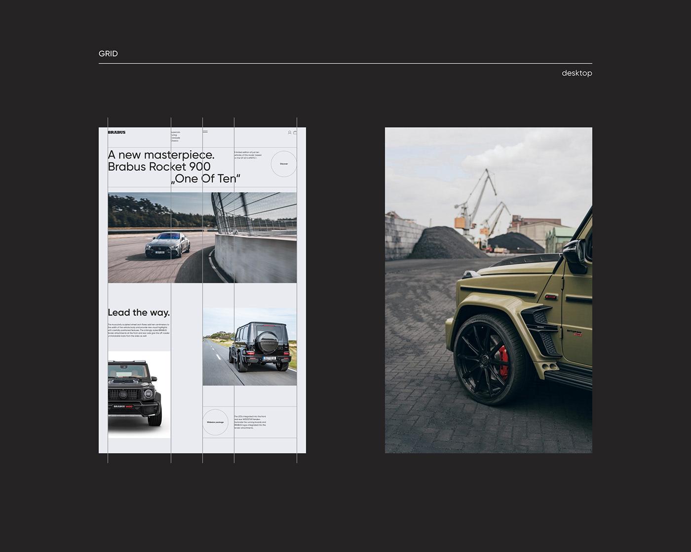 BRABUS,Cars,luxury,mercedes,minimal,tuning,uprock,uxui,Webdesign,Website