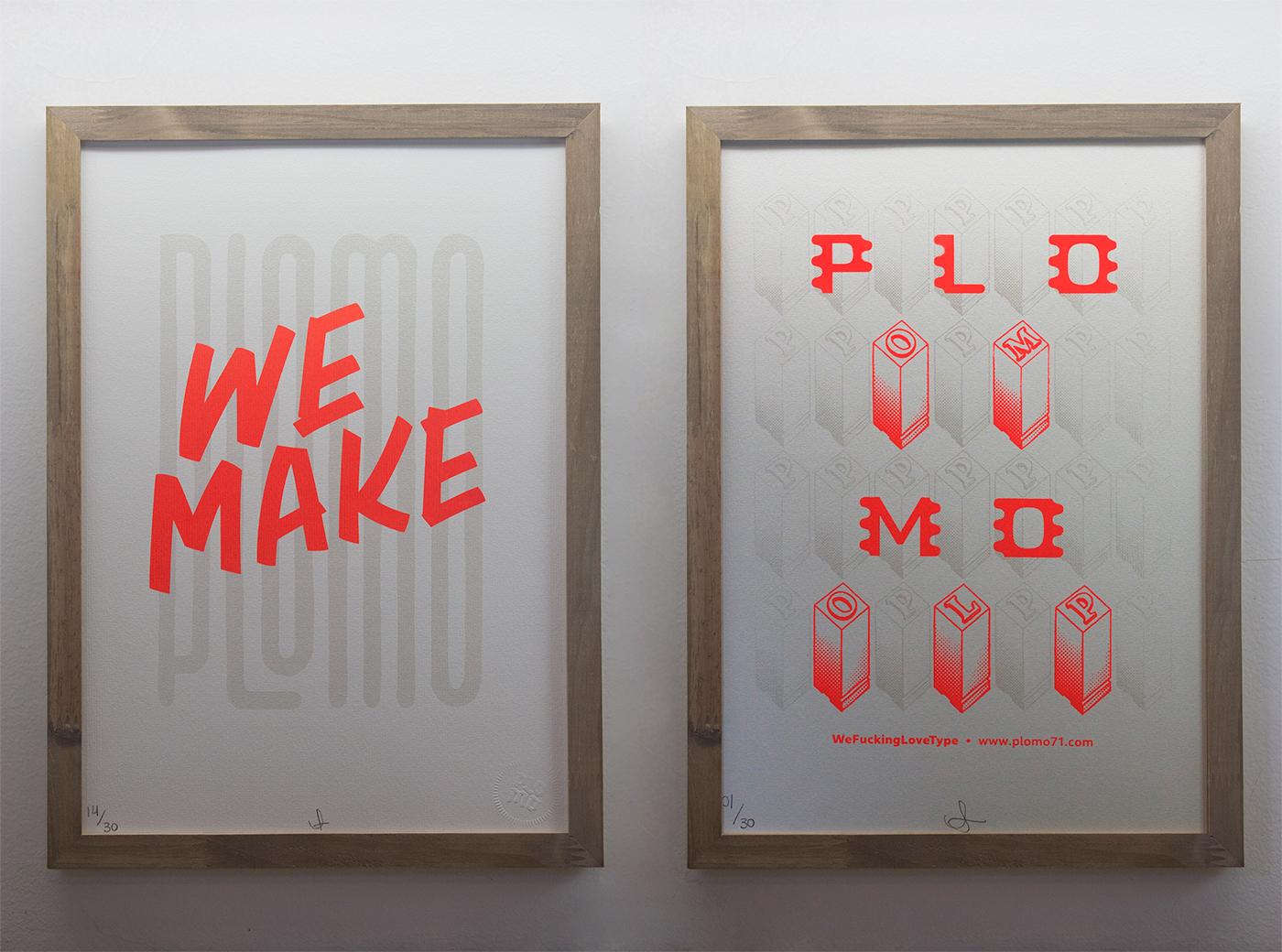 lettering silkscreen artwork type plomo71 poster cartel cartaz