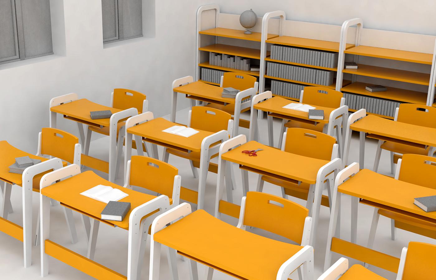 Primary School Furniture On Behance