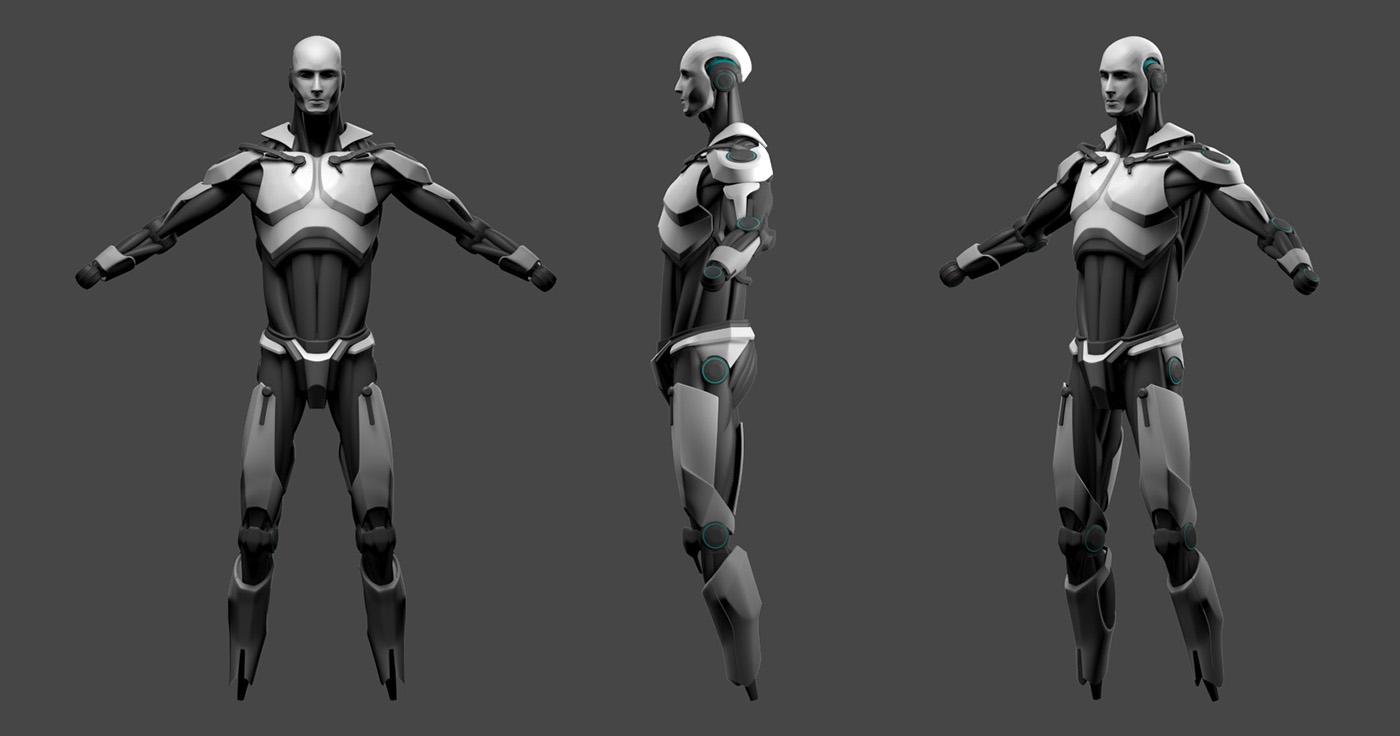 ESET robot / 3d model on Behance