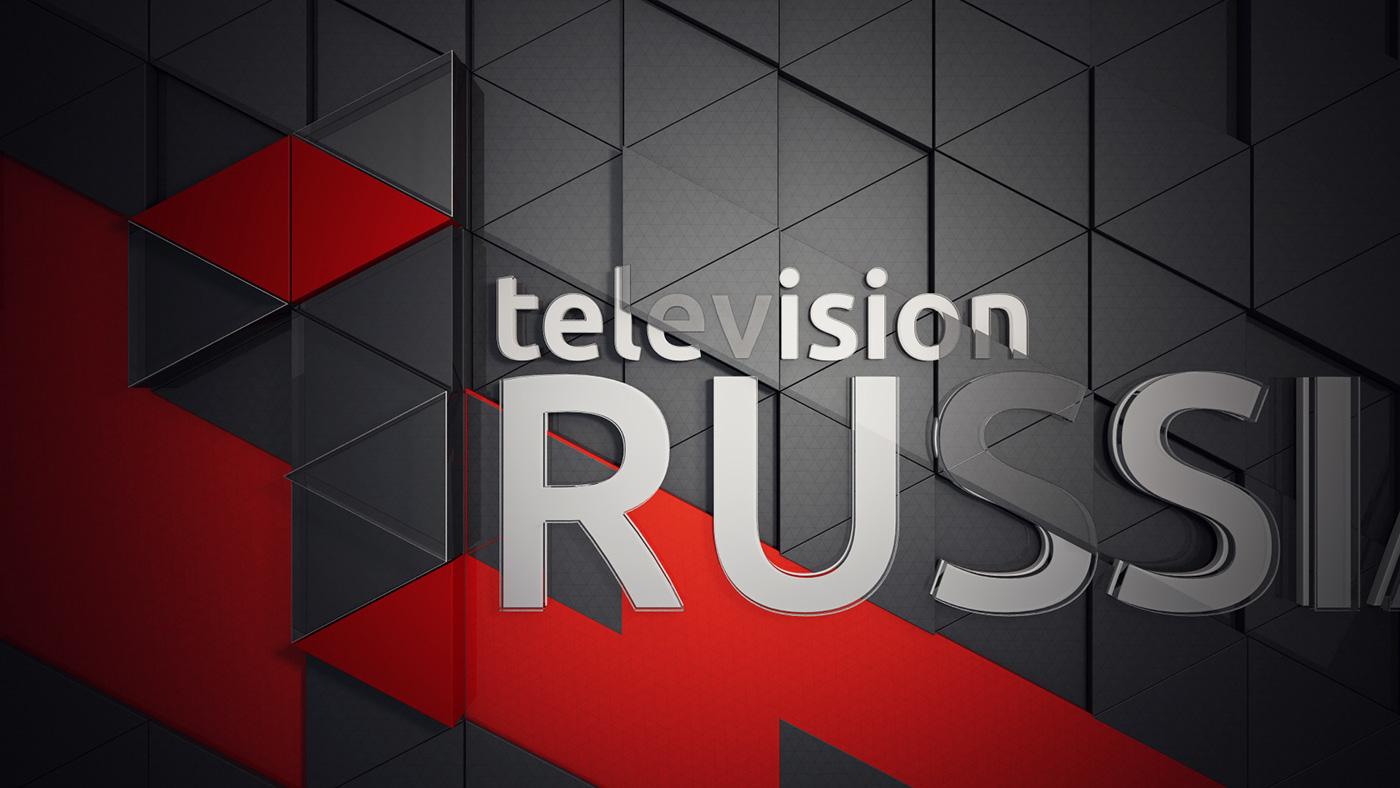 russia 1 Ident triangle tv