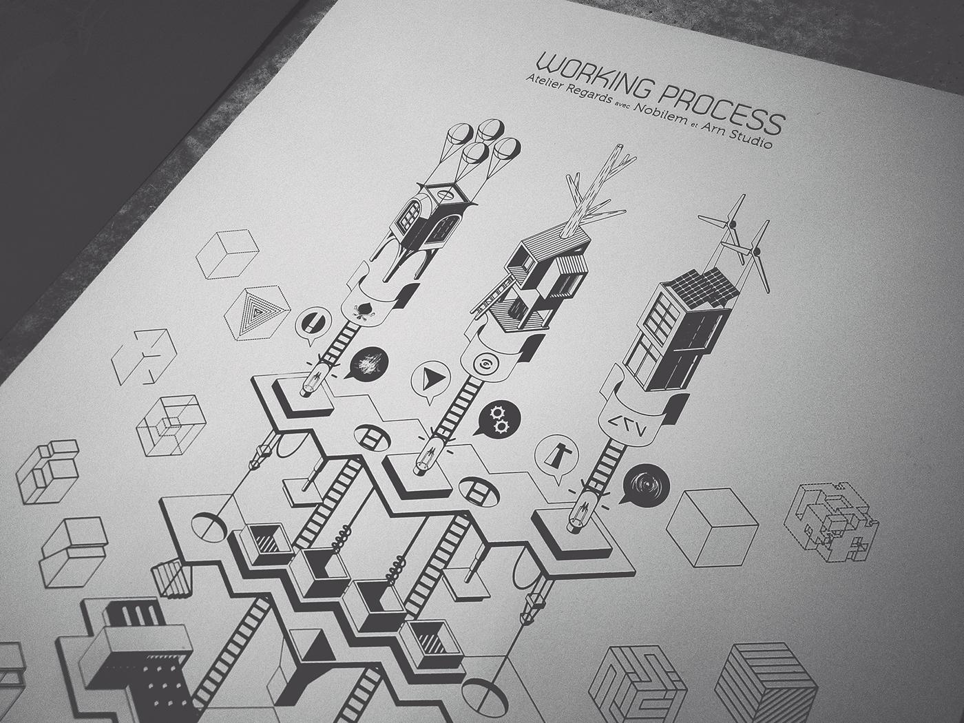 dessin Drawing  ILLUSTRATION  sérigraphie screen printing motif affiche poster