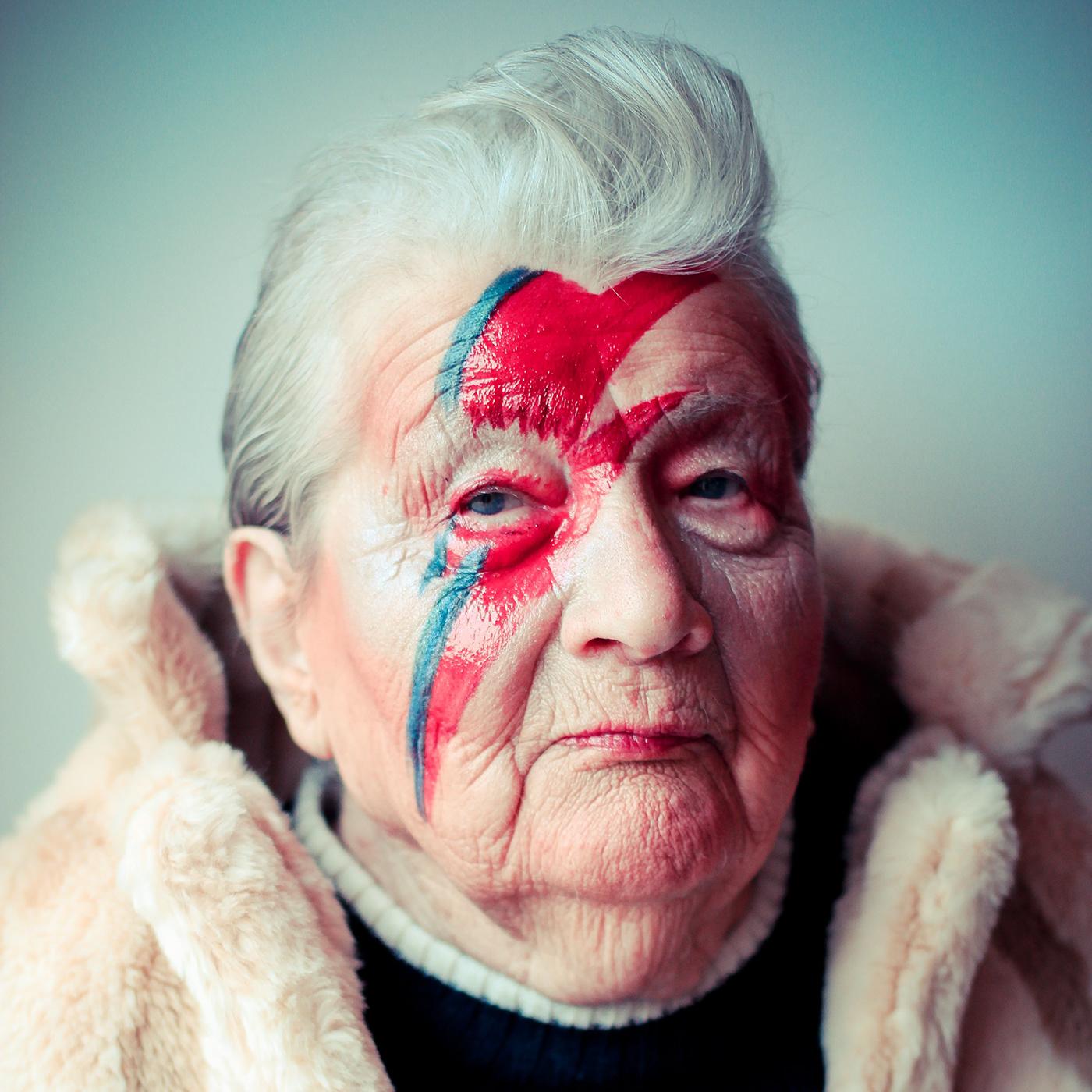 Photography  portrait Bowie grandma
