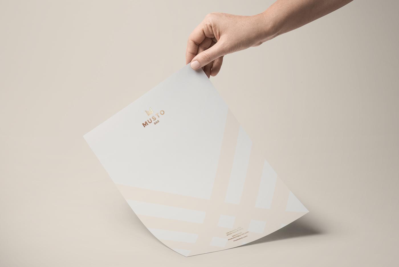 brand identity logo design gold foil cards Stationery Business Cards letterhead