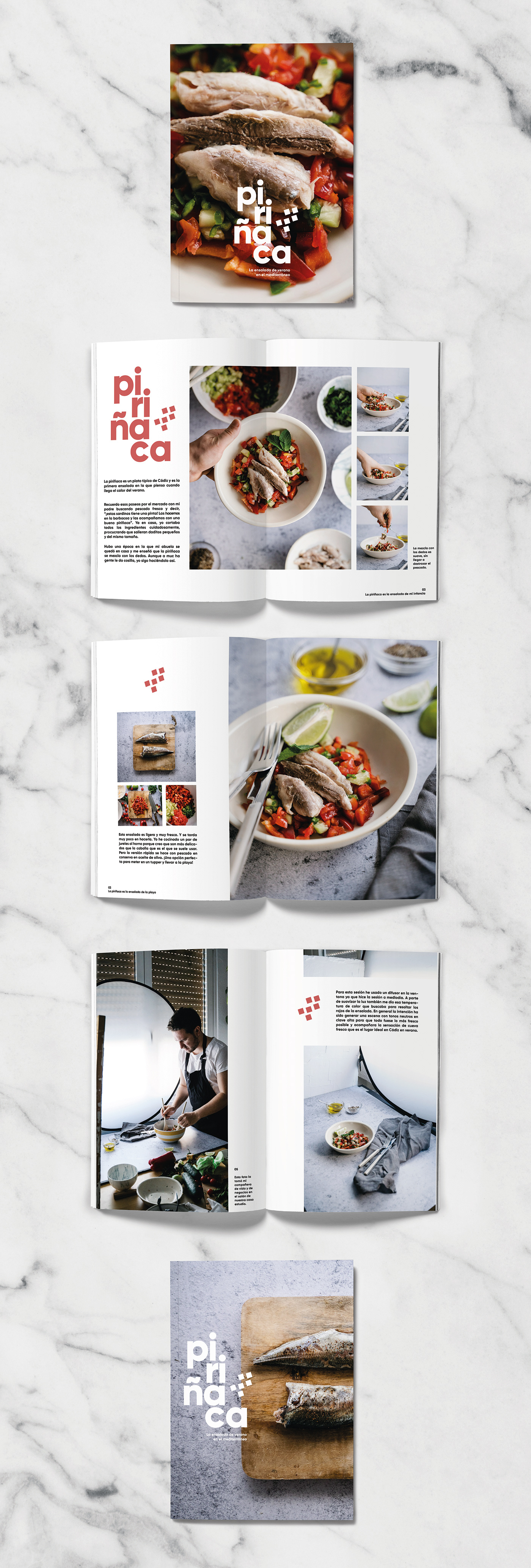 ArtDirection clean fish foodphotography fresh magazine personalproject recipe red salad