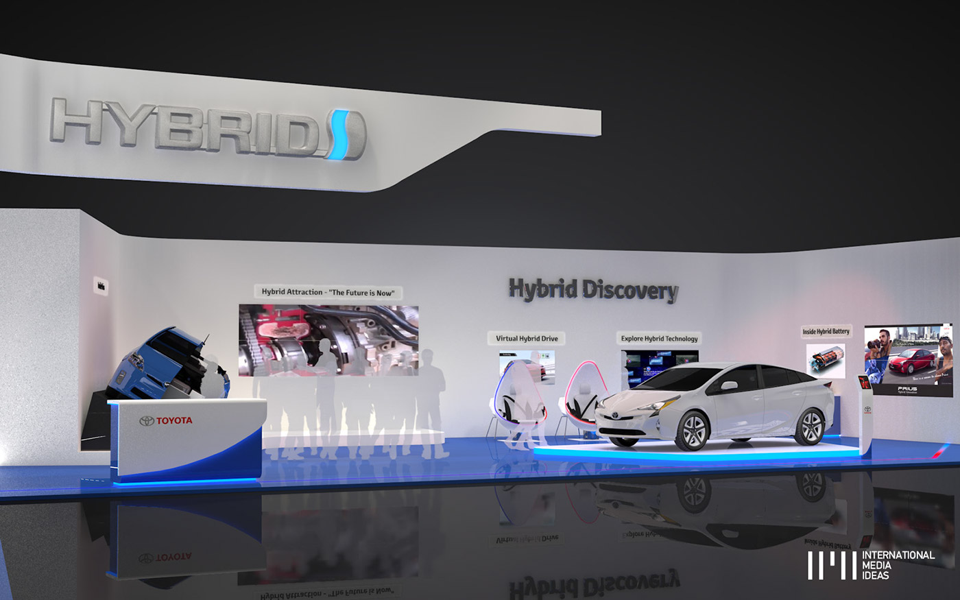 Exhibition Stand Futuristic : Toyota hybrid exhibition stand on pantone canvas gallery