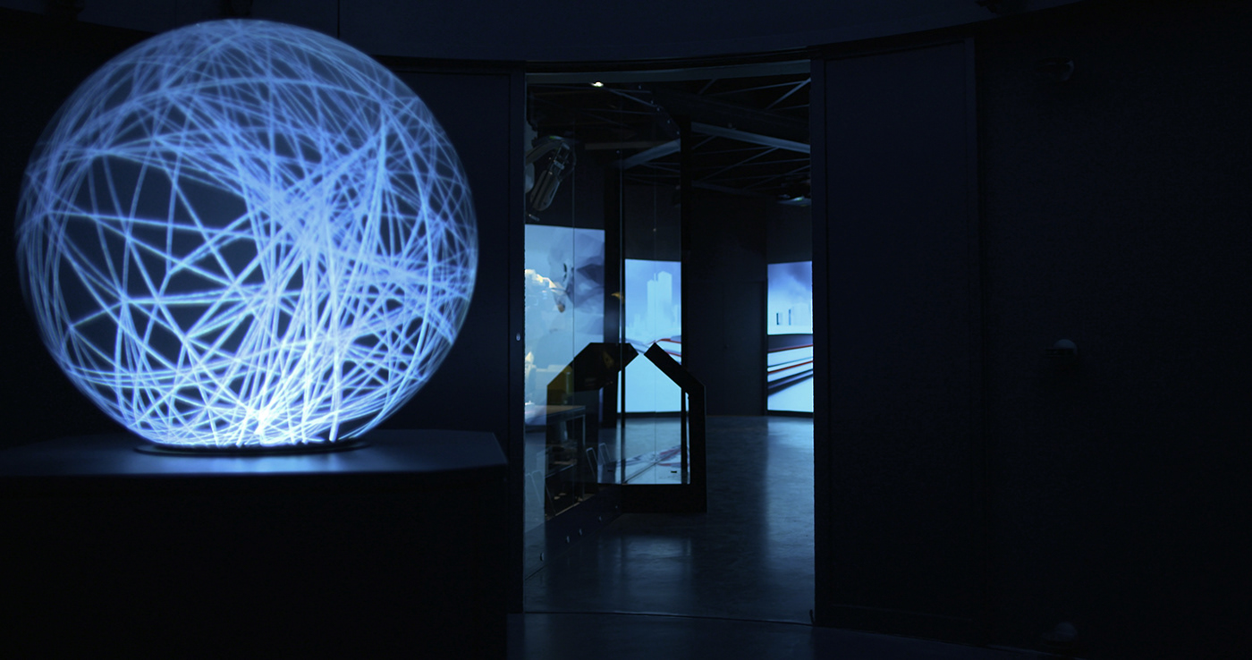 installation light dome projection museum future Mapping Multimedia  Show Exhibition Design