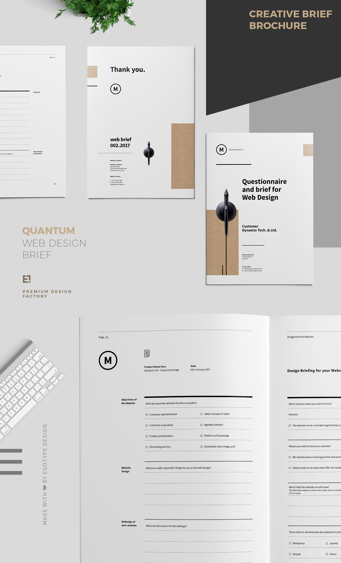 Brief Versenden Layout : Questionnaire and brief for web design on behance