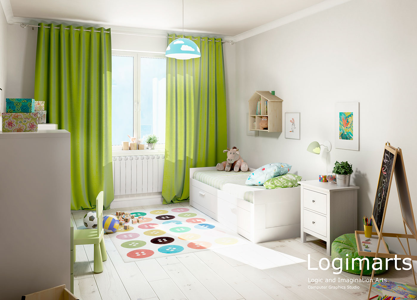 Architectural rendering interior design  3D Visualization 3ds max vray photoshop