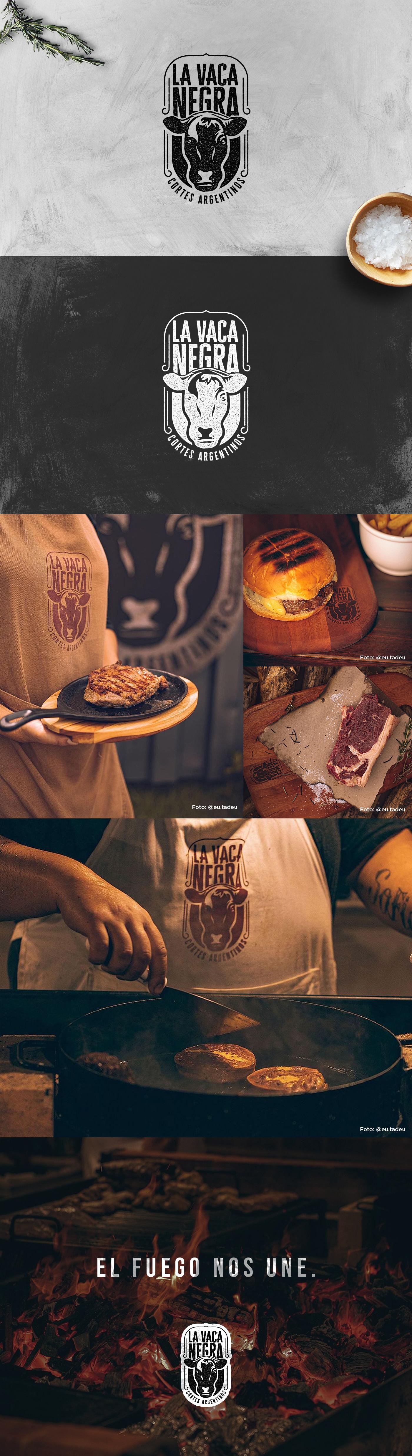 argentina barbecue branding  churrasco identidade visual lavacanegra manaus marca Parrilla