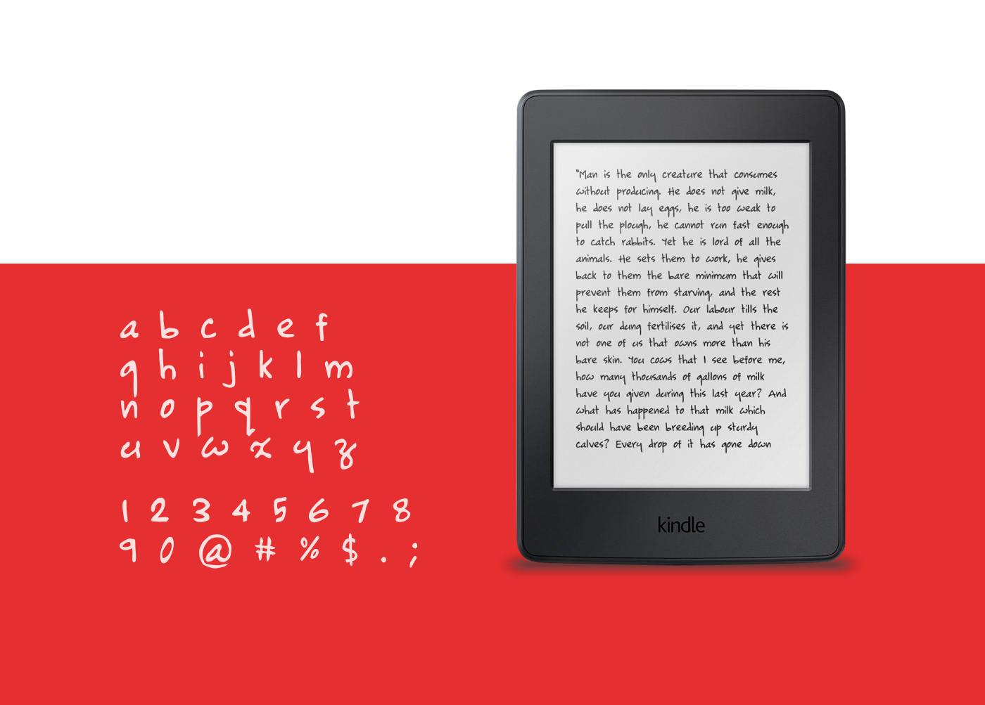 handwritin Typeface unicode free open source english only gpl font