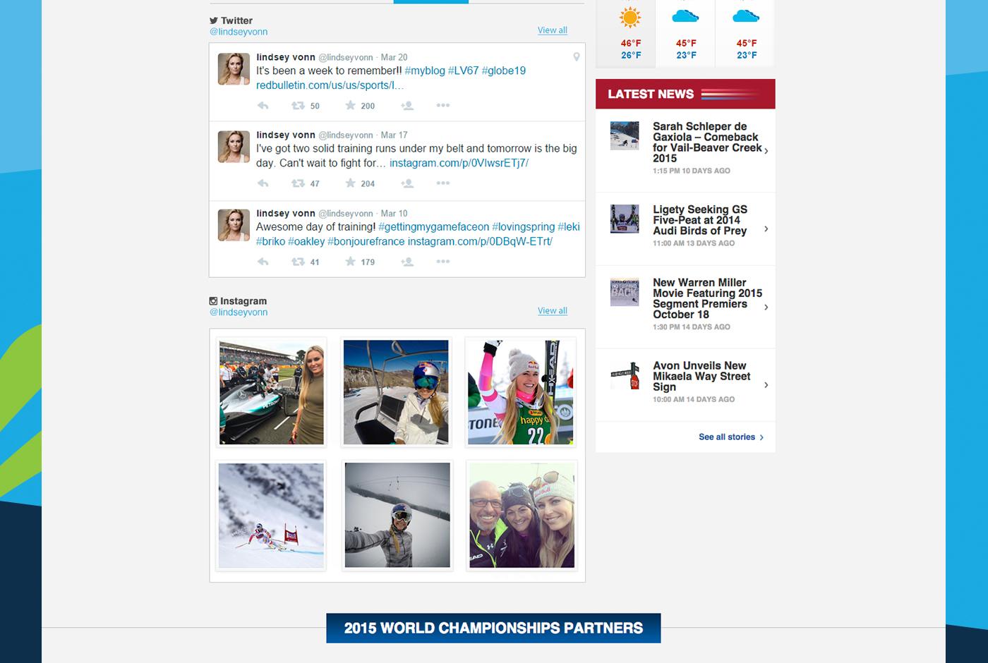 Ski sports Vail 2015 fis World Alpine Ski wrecking ball Vail Valley Foundation 2015 World Alpine Web & Mobile