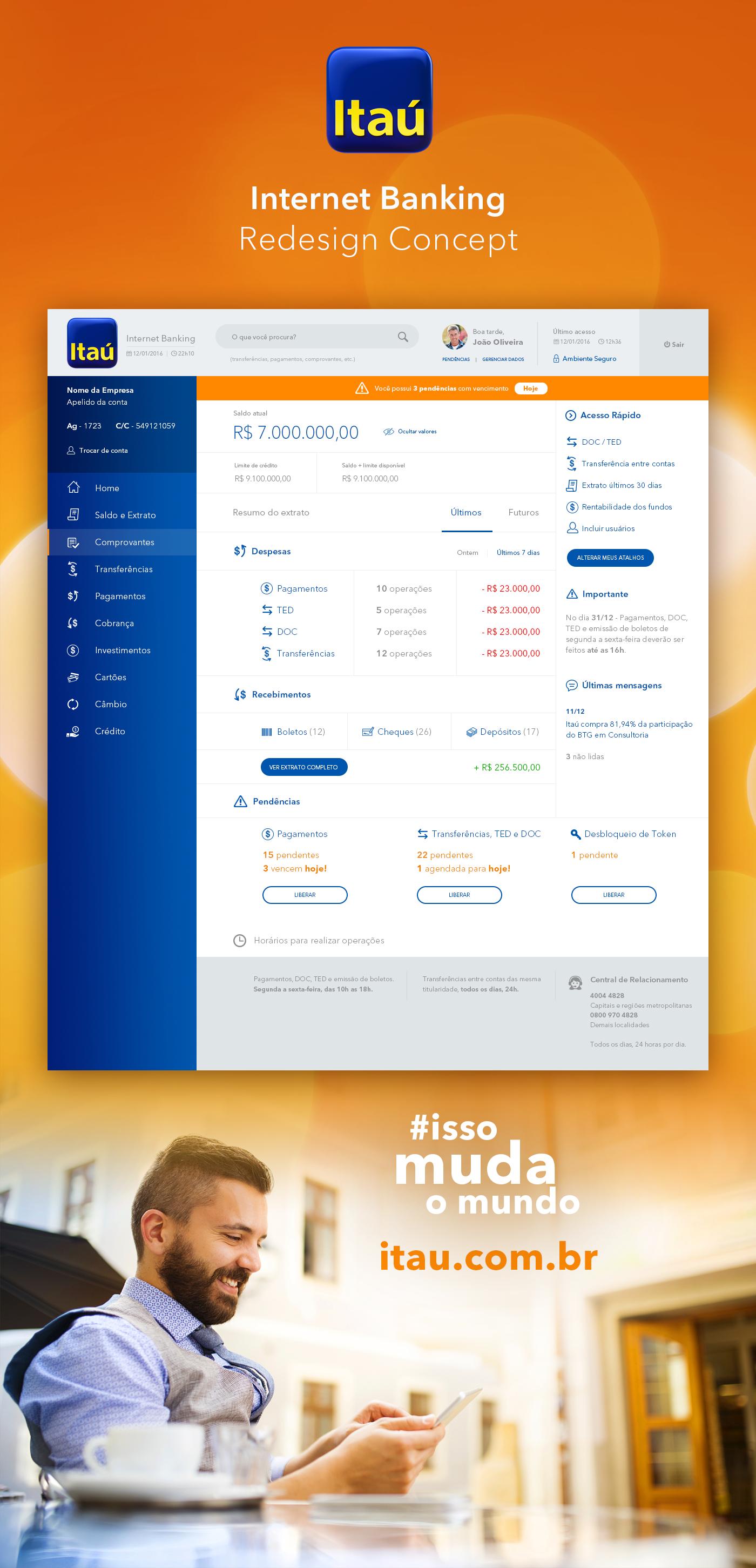 Itaú - Internet Banking on Behance