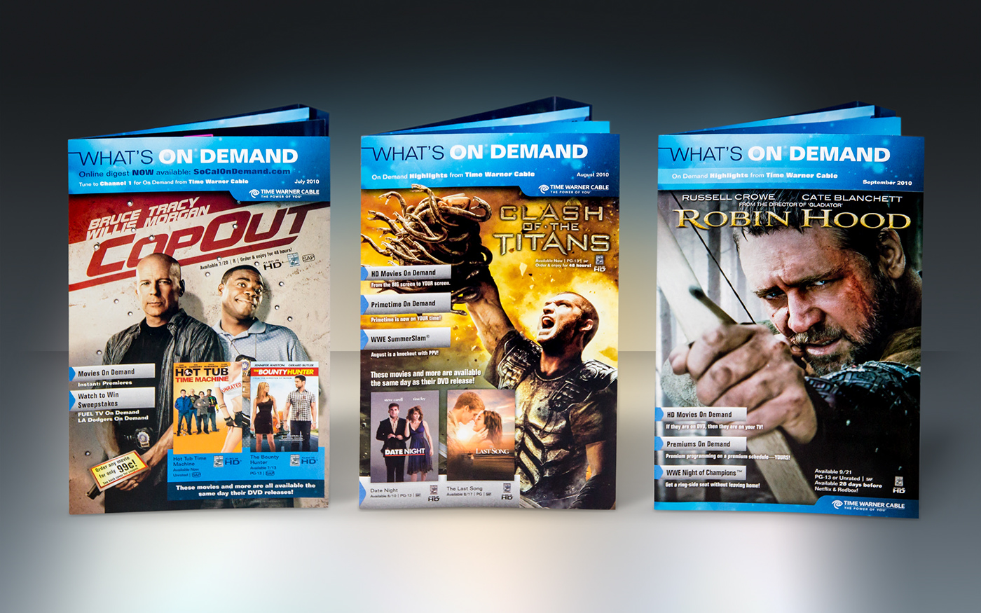 time warner Cable Direct mail marketing   mso digest Movies Transformers batman
