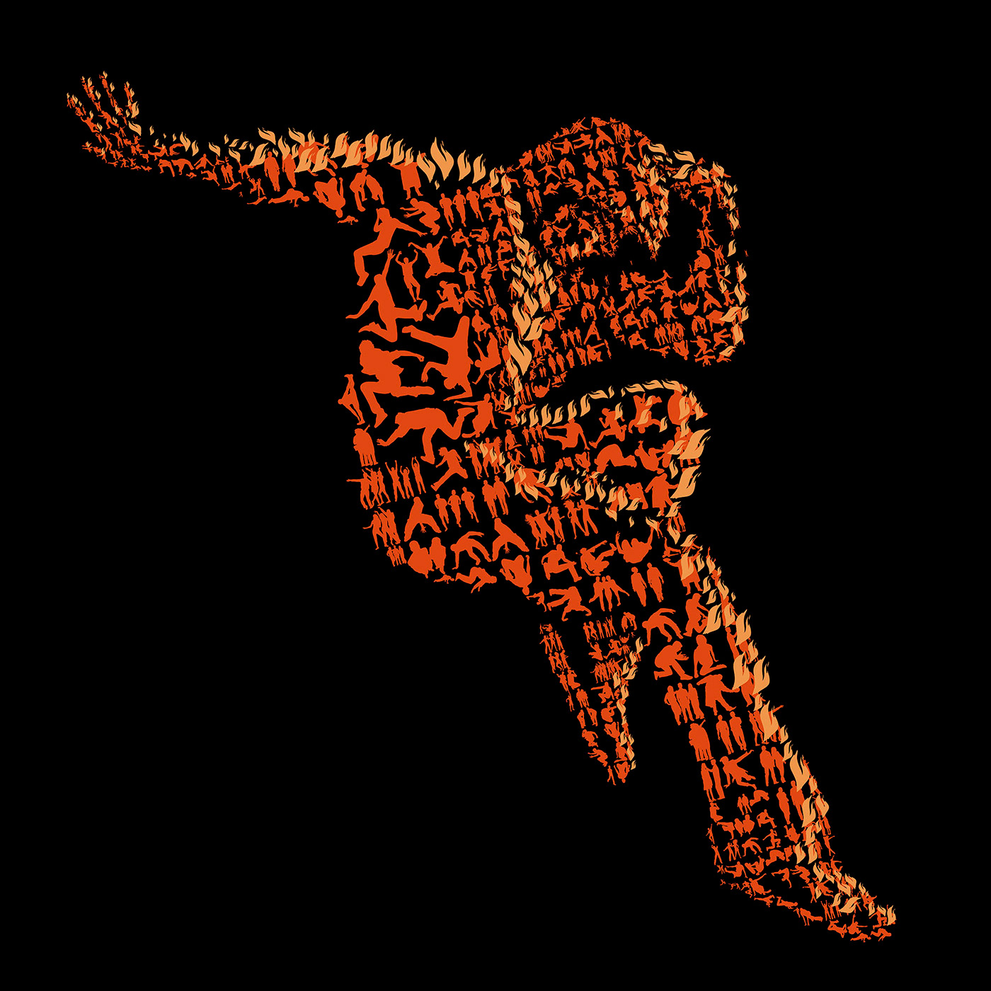 energy drink campaign Dynamic mosaic photomosaic Urban drive study Work  DANCE   sihlouette people