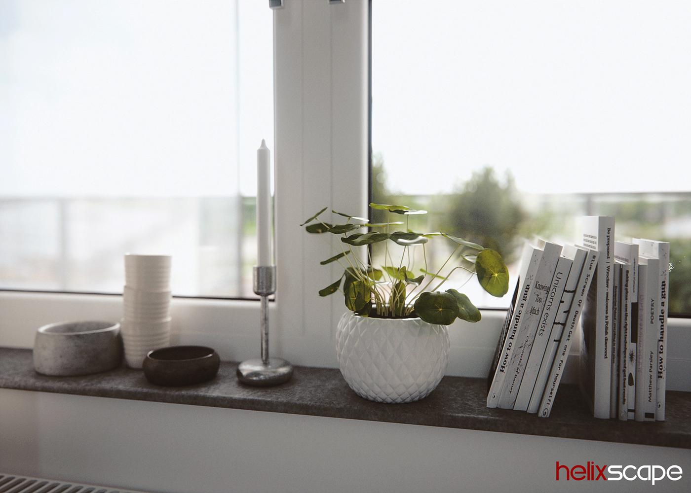 3D Rendering Interior kitchen visualization