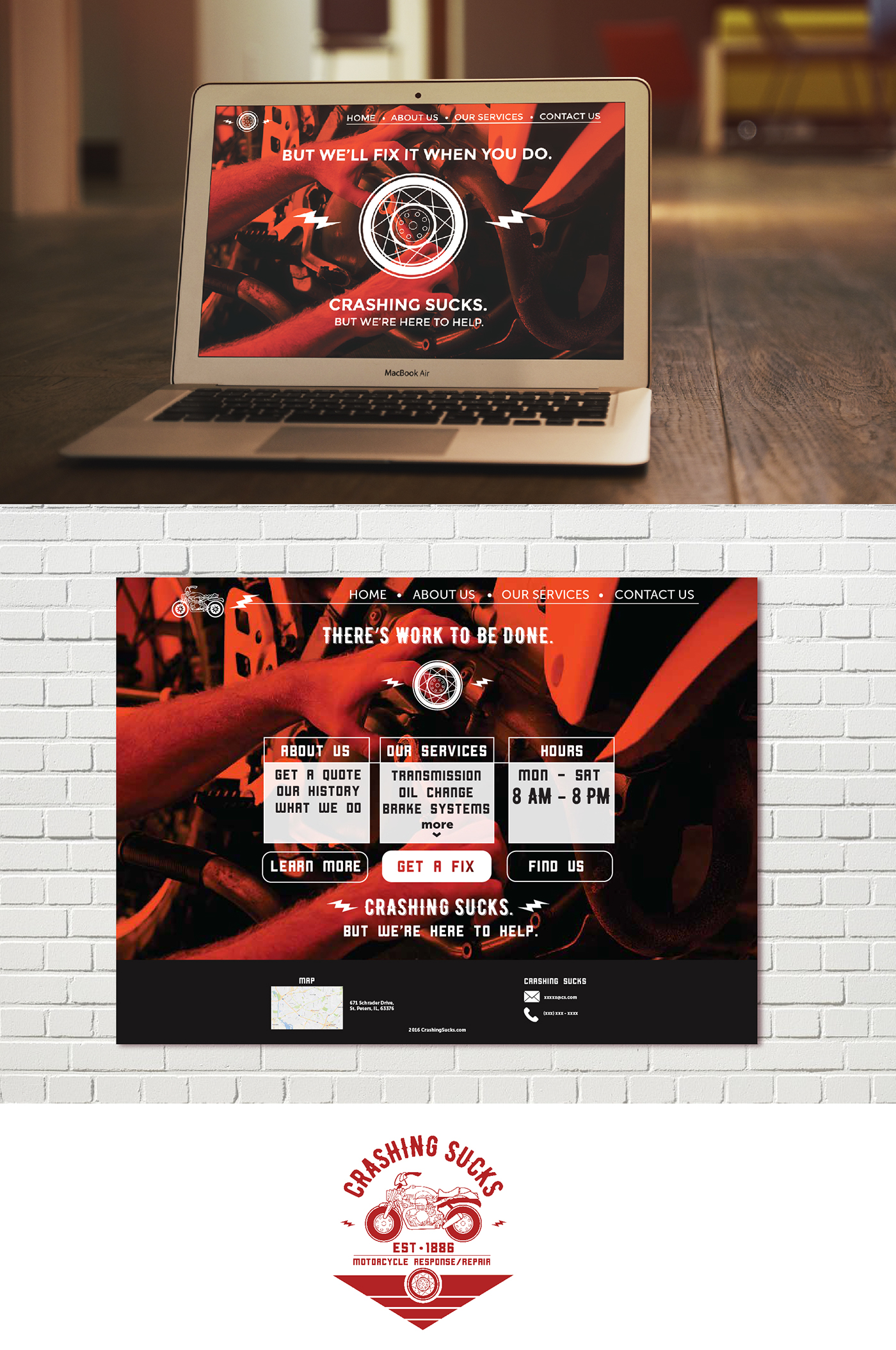 Local Motorcycle Shop Logo Business Cards Website On Behance