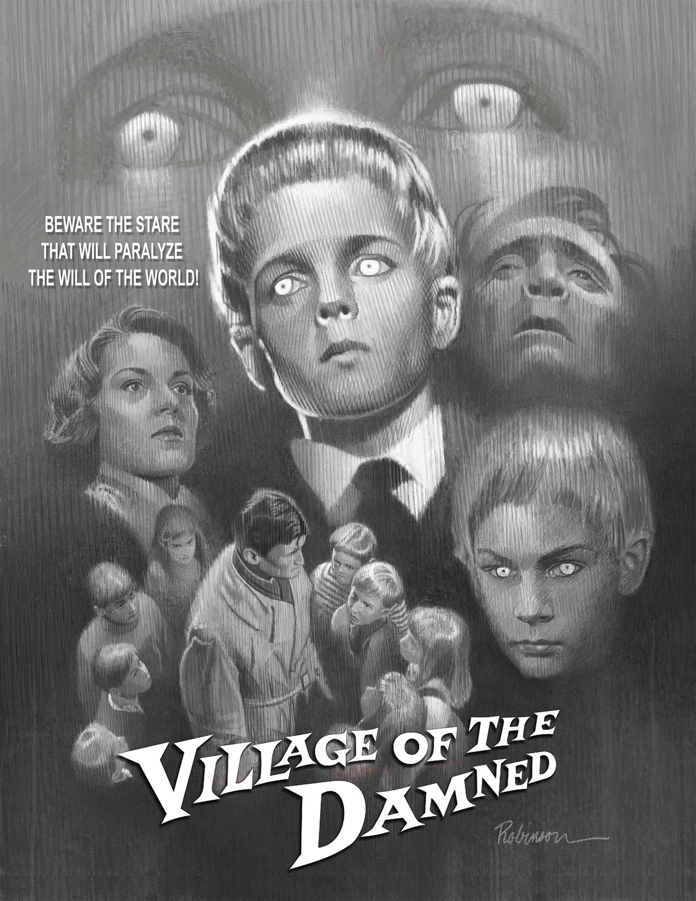 Village of the damned horror movie poster  2