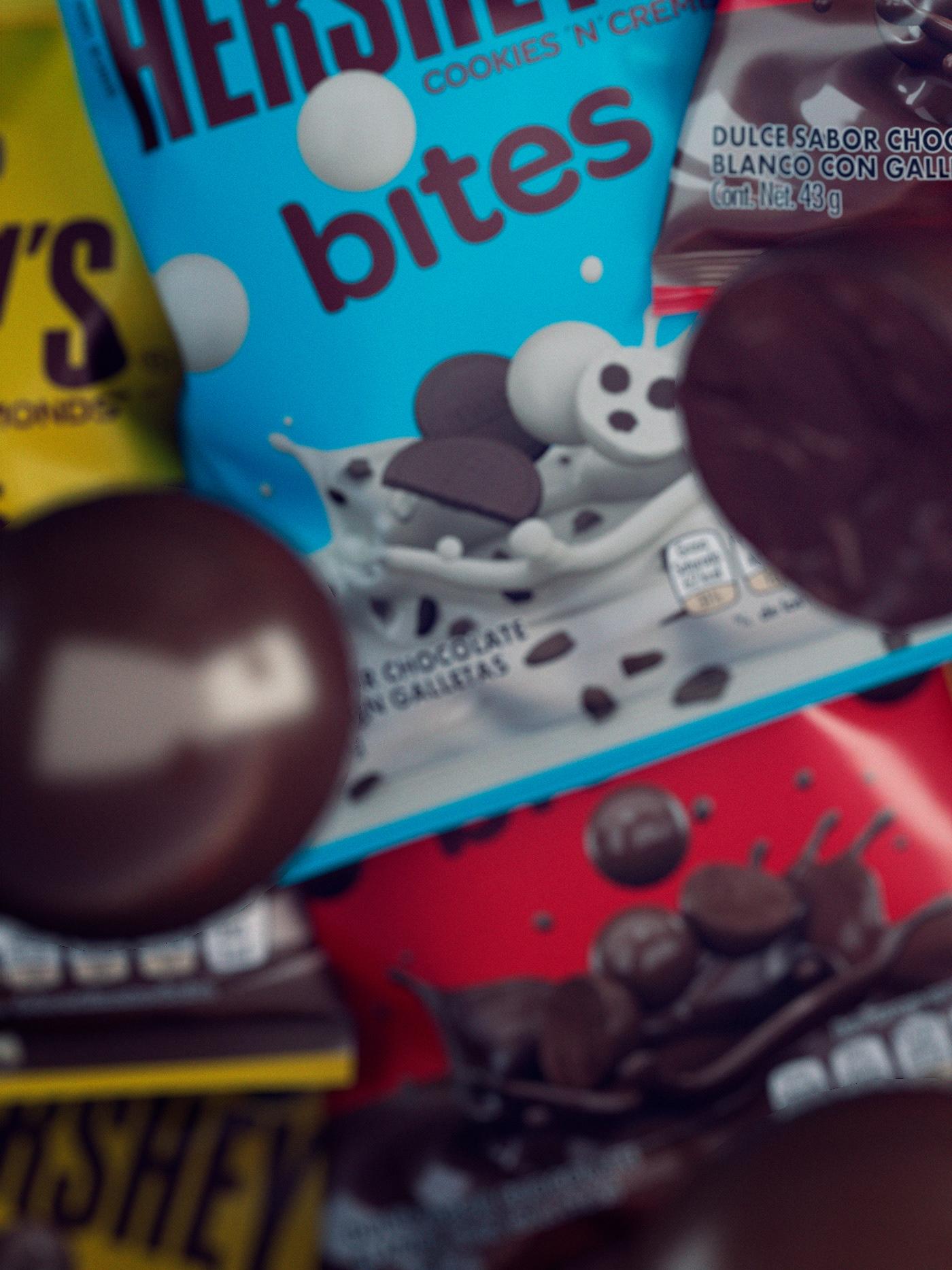 CGI 3D chocolate hersheys bites dessert Candy vray mexico photoshoot