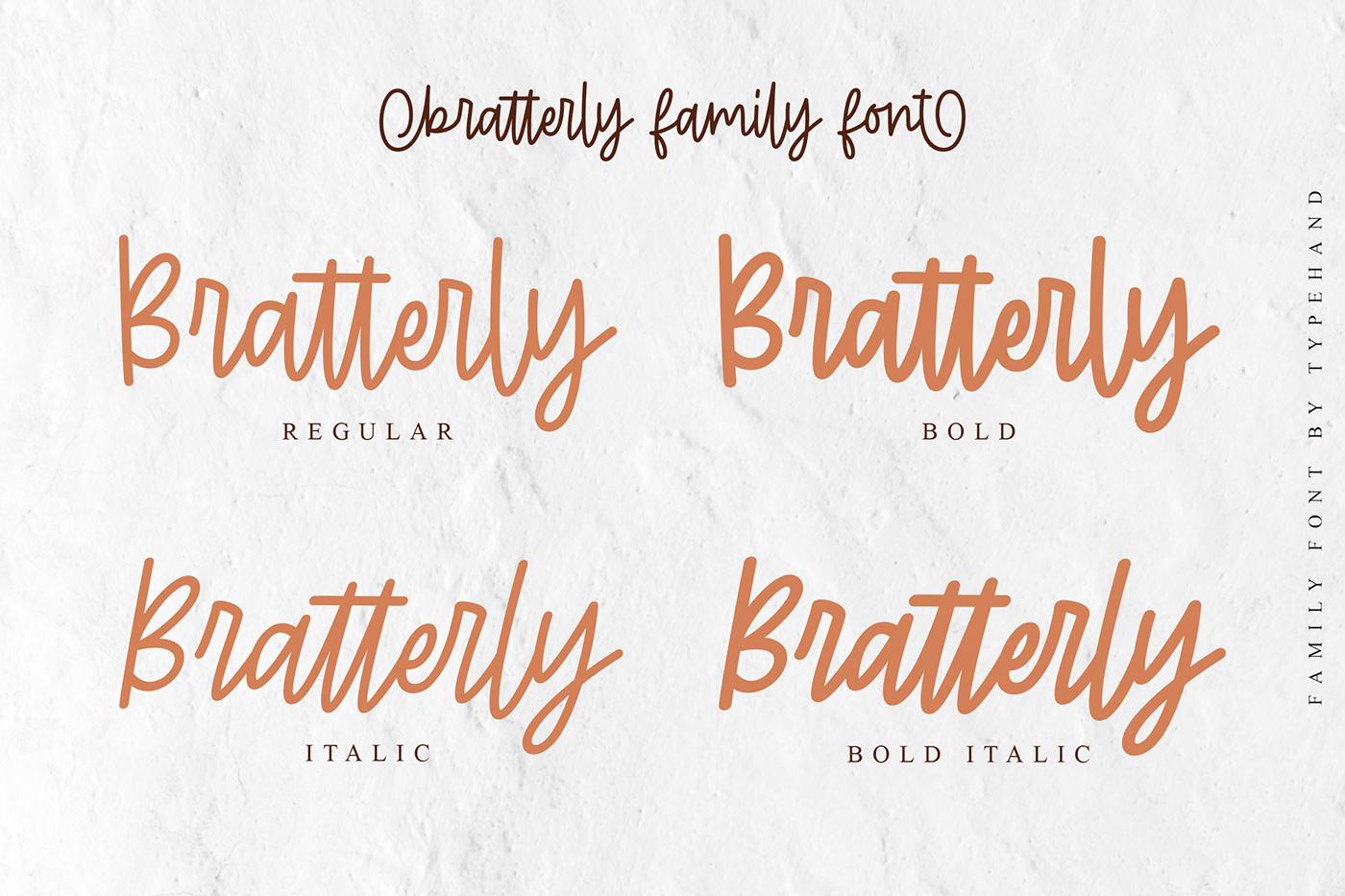 branding  font monoline Script