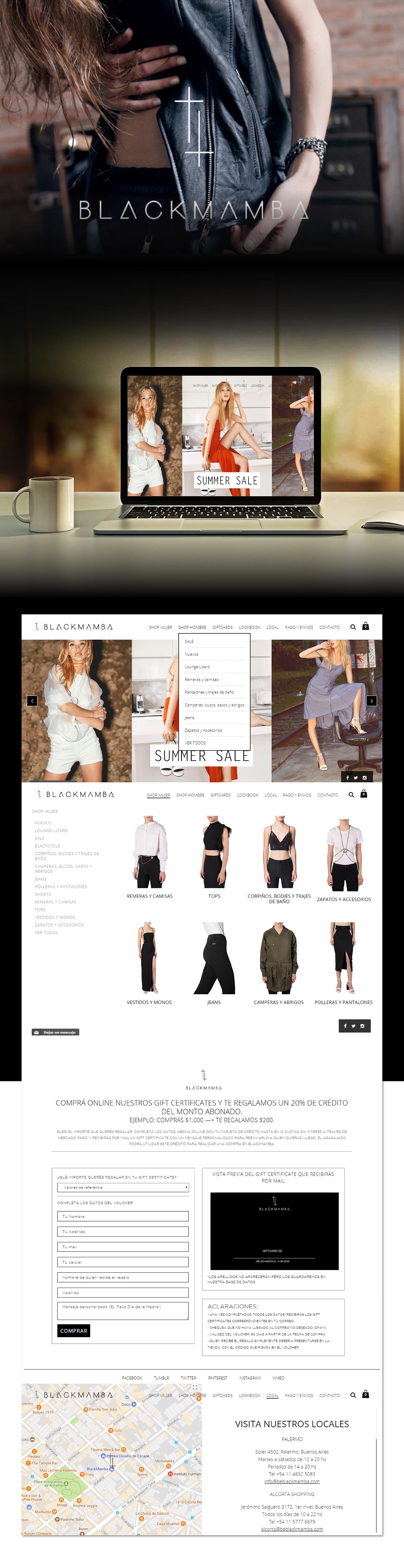 Web mobile Responsive ux desktop Fashion  moda design Diseño web Ecommerce