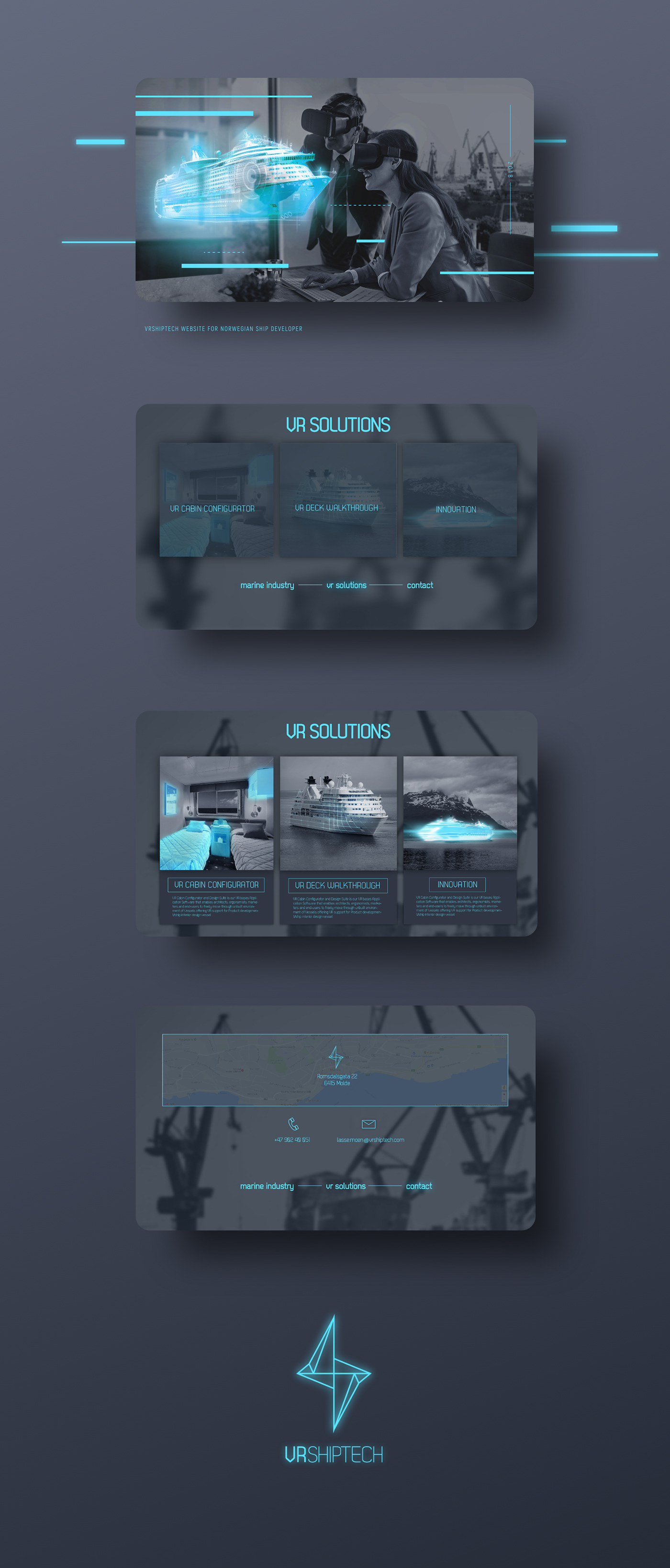 vr,ship,sea,Website,animation ,norway,graphic,vector,font,minimalistic