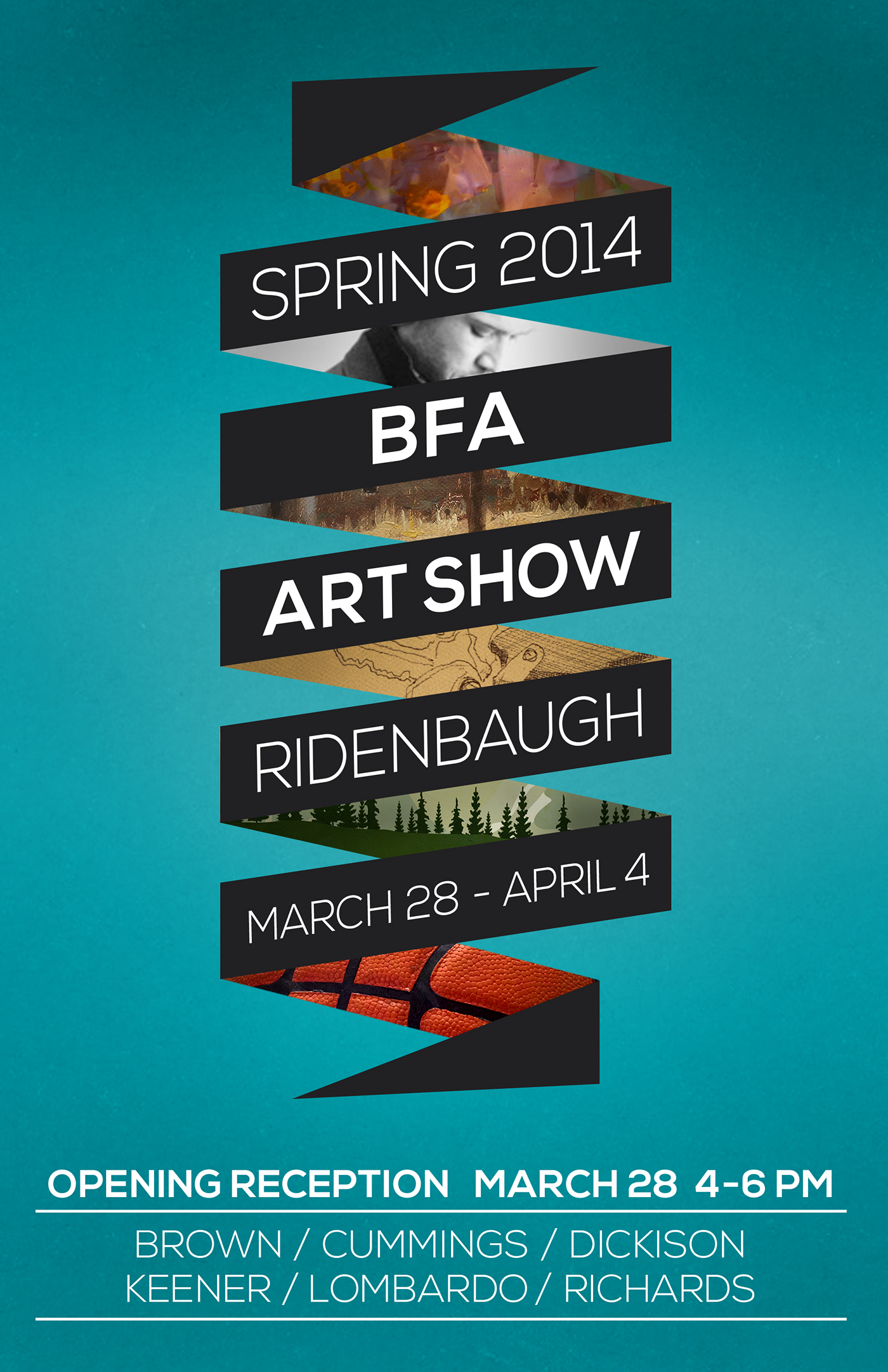 Bfa art show posters on behance for Art craft shows