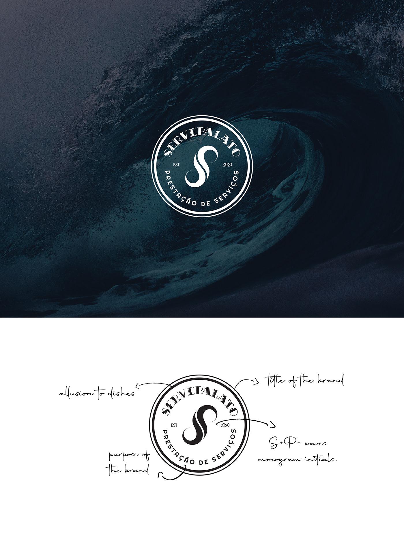 brand branding  company design graphic graphicdesign initials logo monogram stationary
