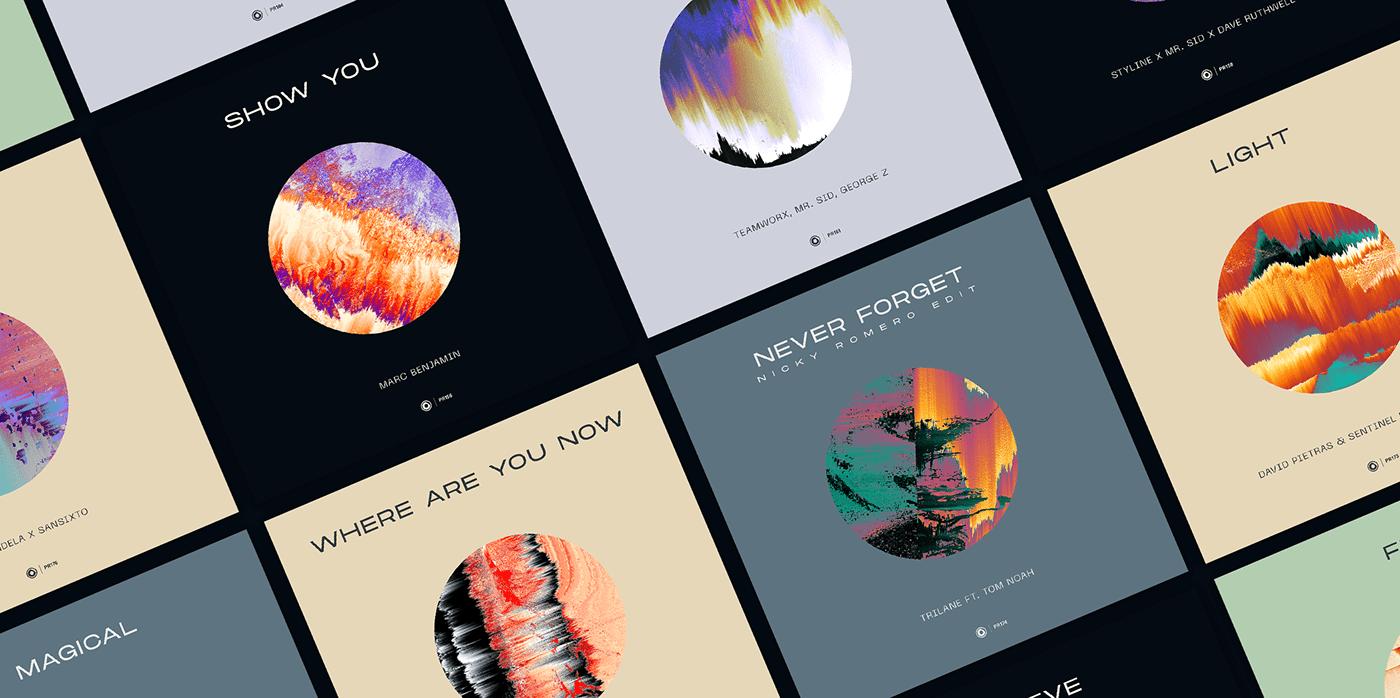 Album art direction  artwork Cover Art Dance music edm glitch art music rebranding