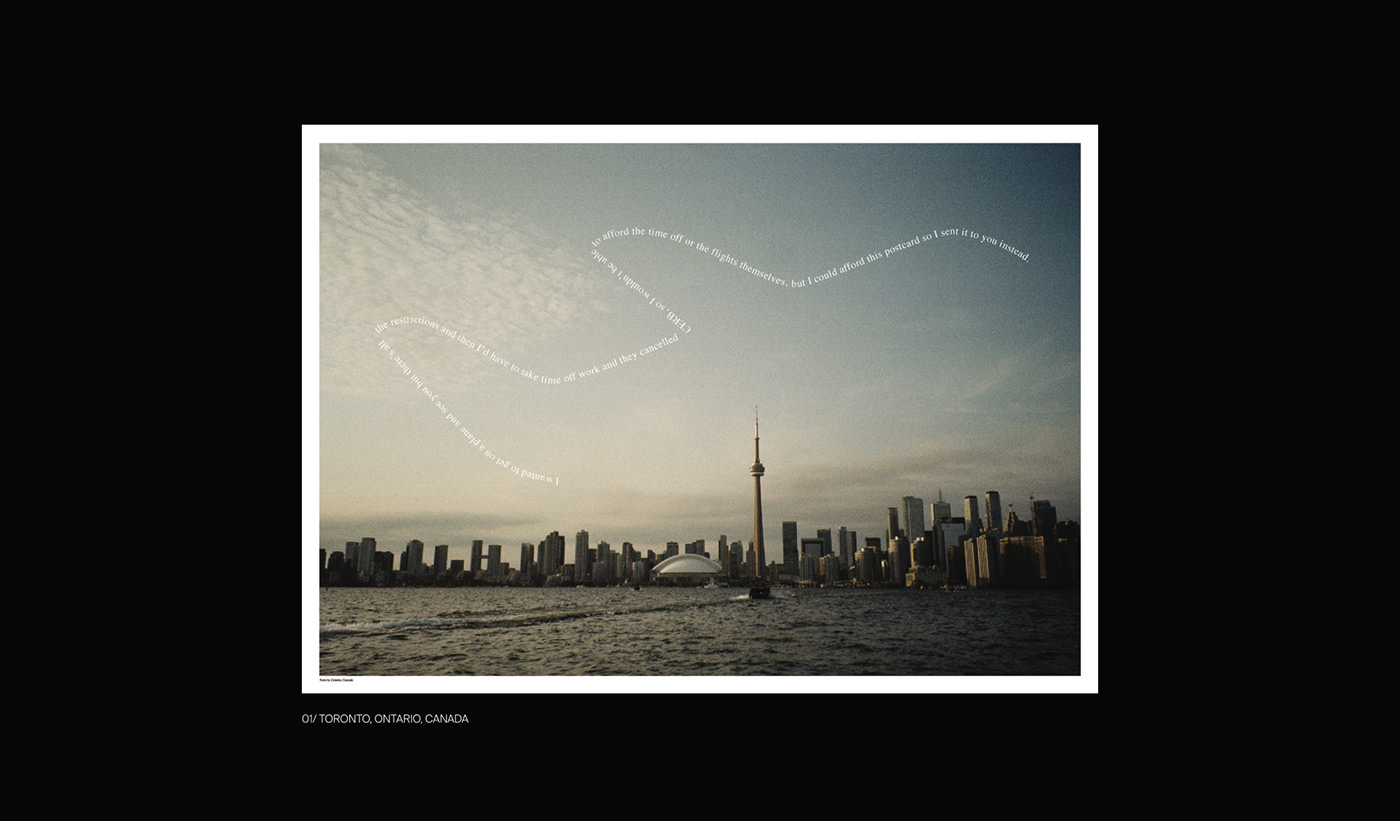 35mm Canada COVid Film   pandemic Photography  postcard postcards snail mail typography