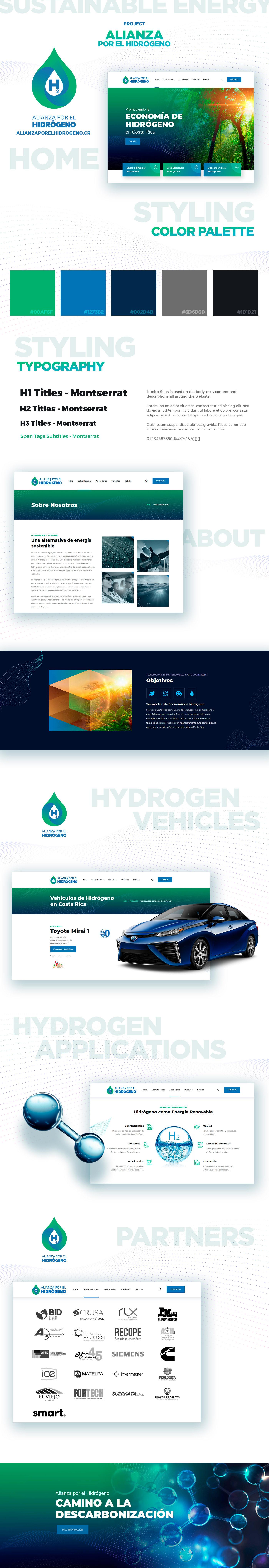 alianza clean Green Energy hidrogeno Hydrogen Website future graphic design  ux/ui Web Design
