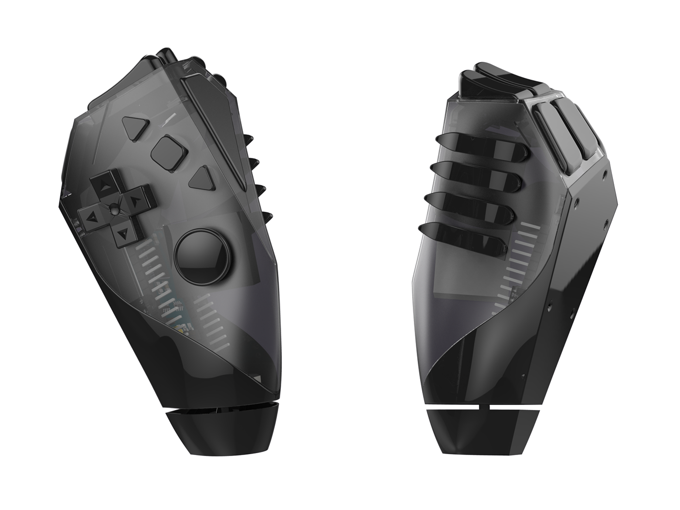 Videogames Accessibility controller gamepad fusion 360 product design  motor disabilities Left hand 3d printing open source