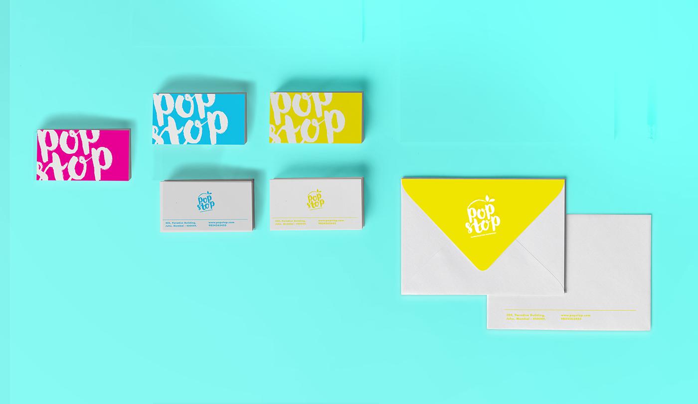 identity logo icecream popsicle Lolly vibrant Colourful  pop illustrations Fun
