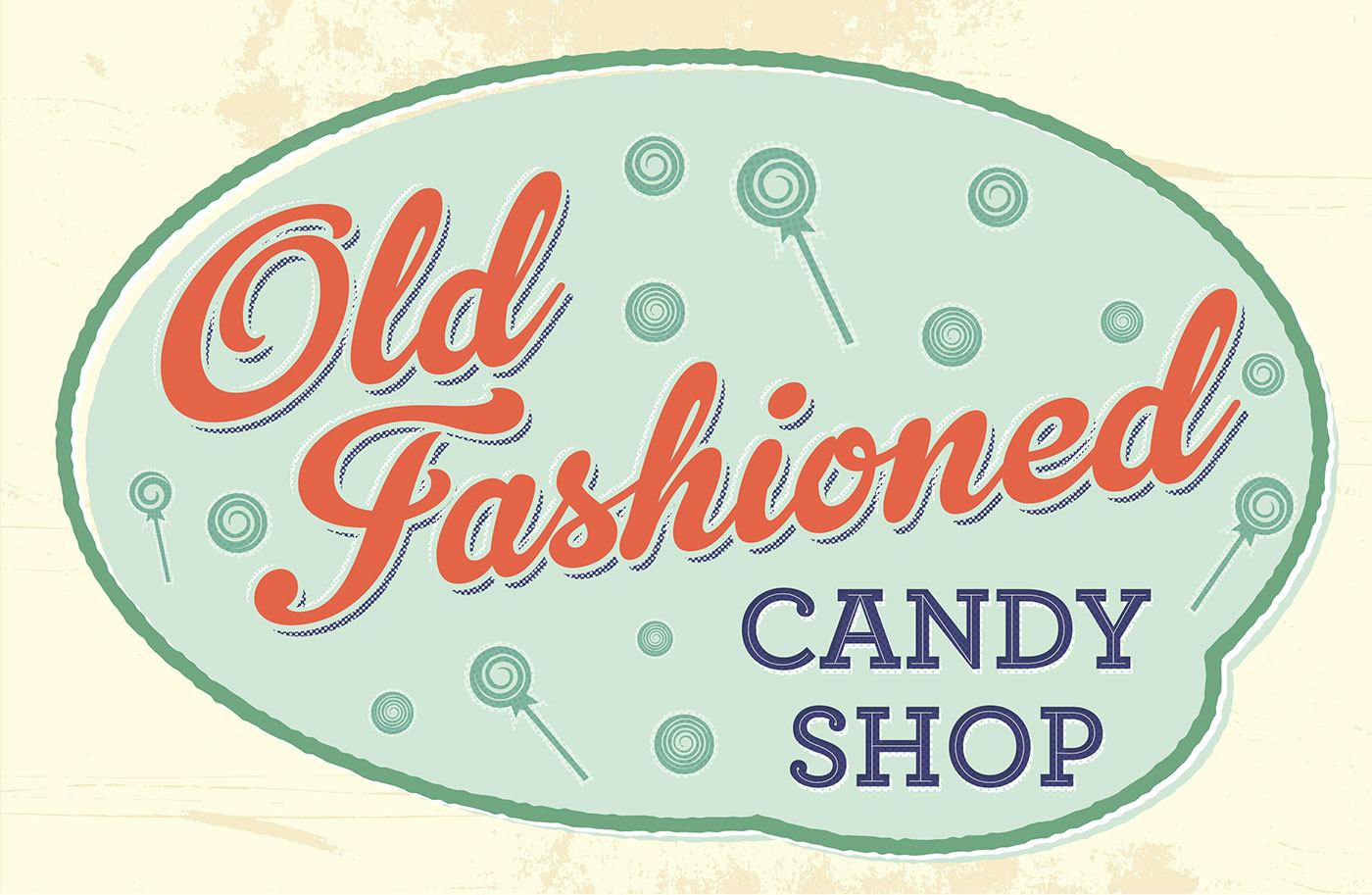 Old Fashioned Candy Shop Signs