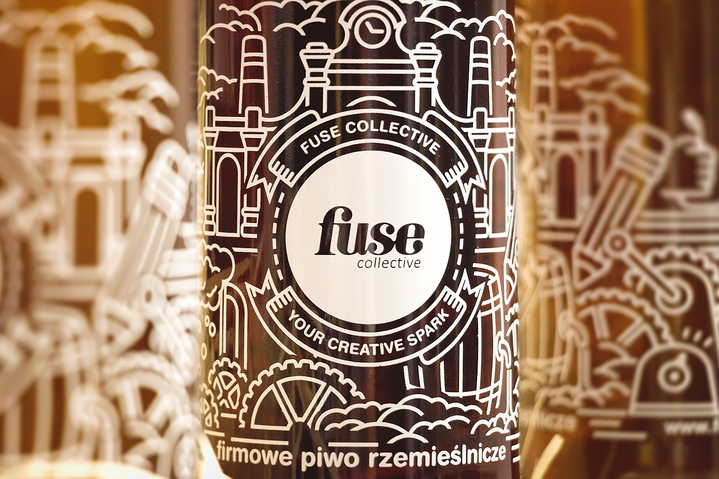 fuse Collective  fusecollective Christmas gift beer bottle lodz