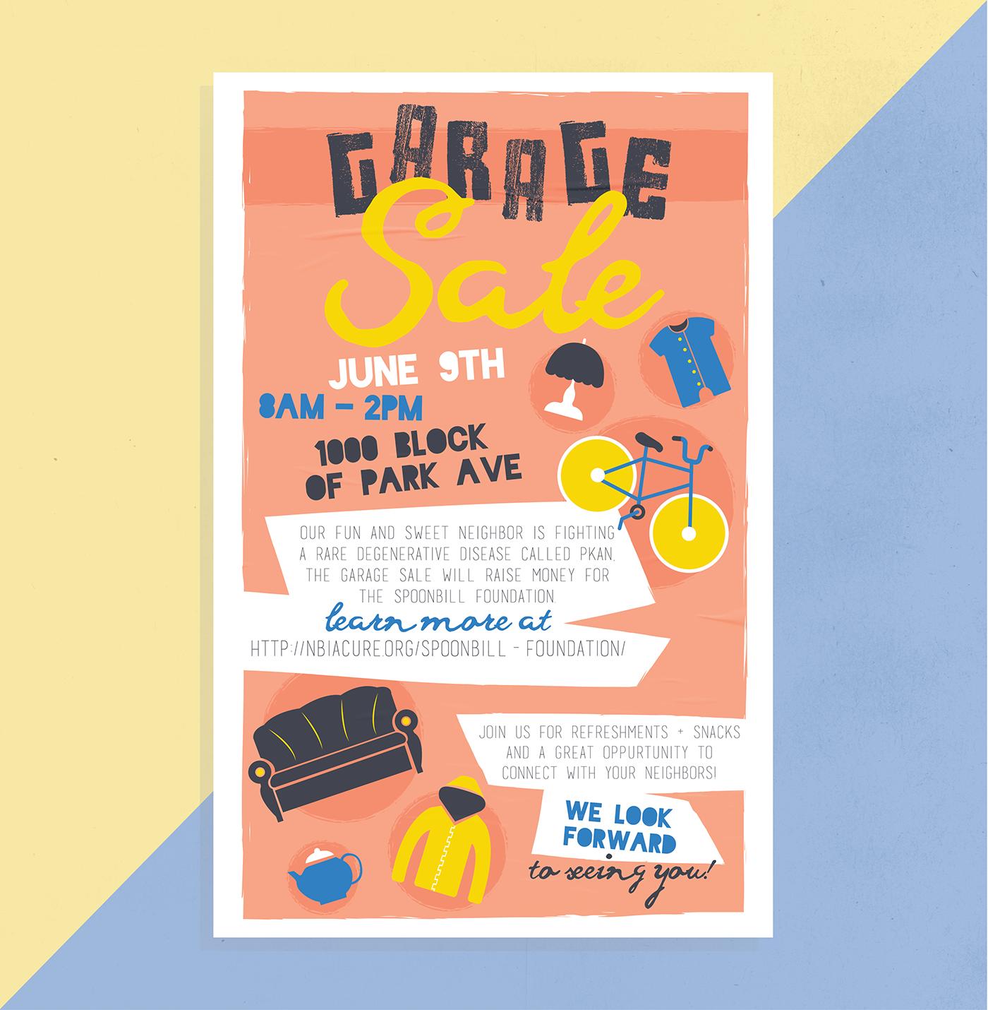 garage sale poster on behance
