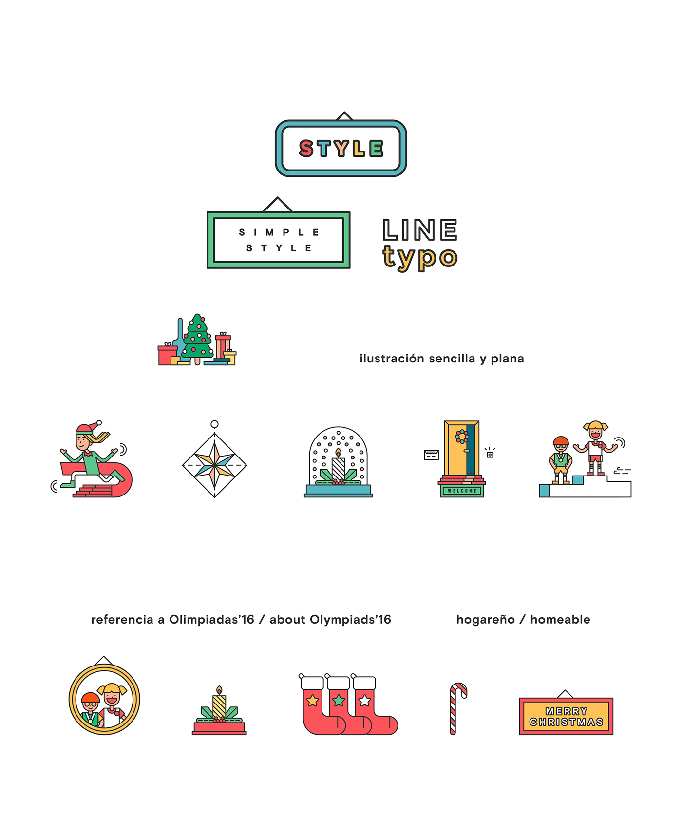 Web Design  ILLUSTRATION  inditex Christmas Christmas Campaign Olympic Games campaign2016