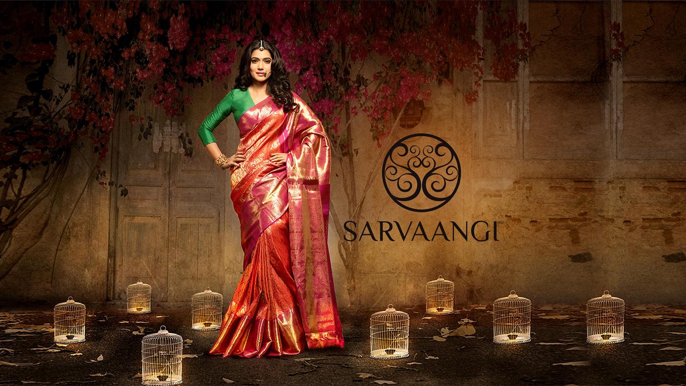 SarvaangiSarees SAREE BRANDING saree Paithani Sarees Indian Saree Startup Farms