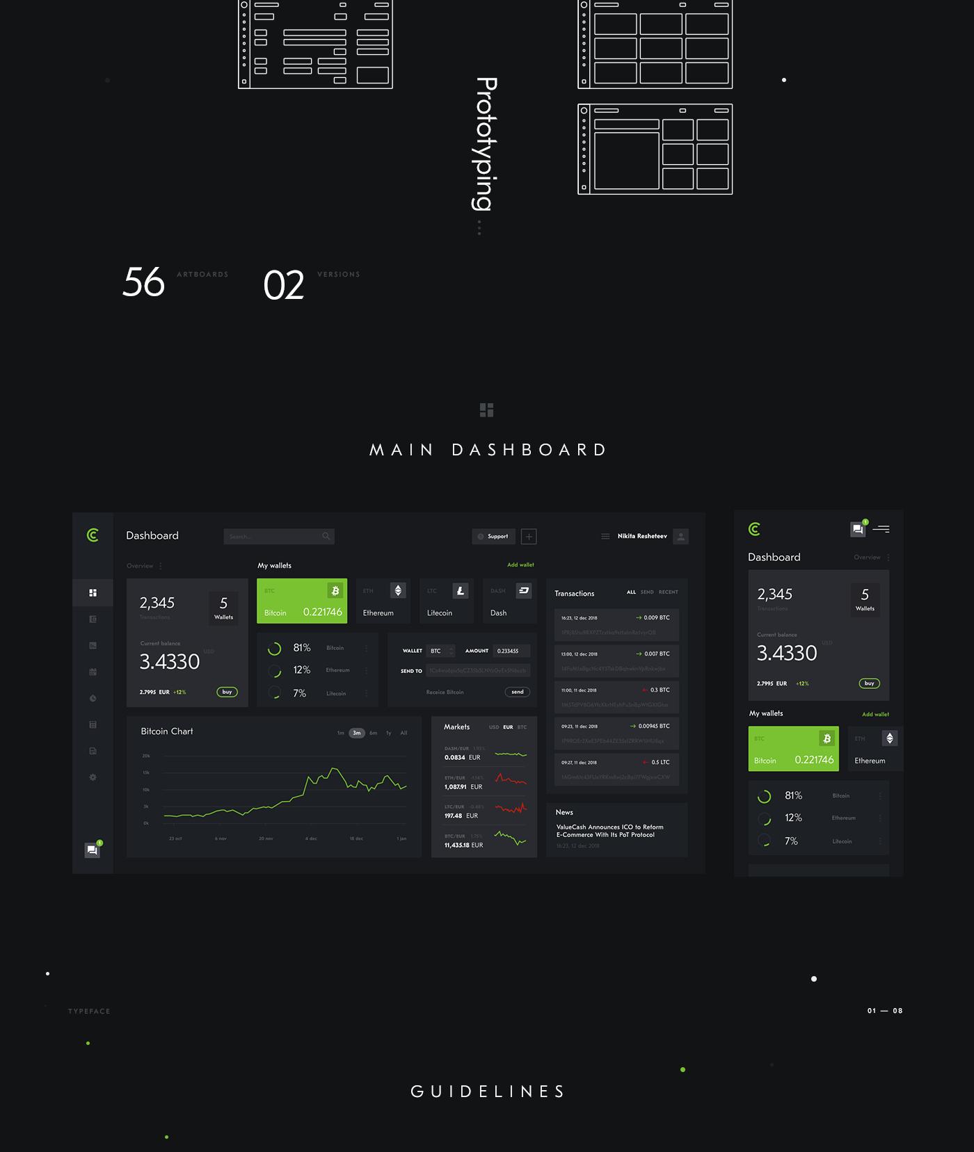 crypto WALLET blockchain dashboard bitcoin ethereum