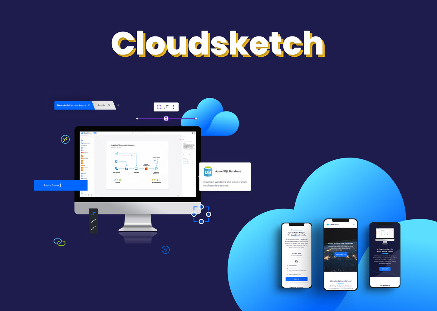 branding  Branding board Design application design elements Logo Design cloud architecture development mobile strategy Web