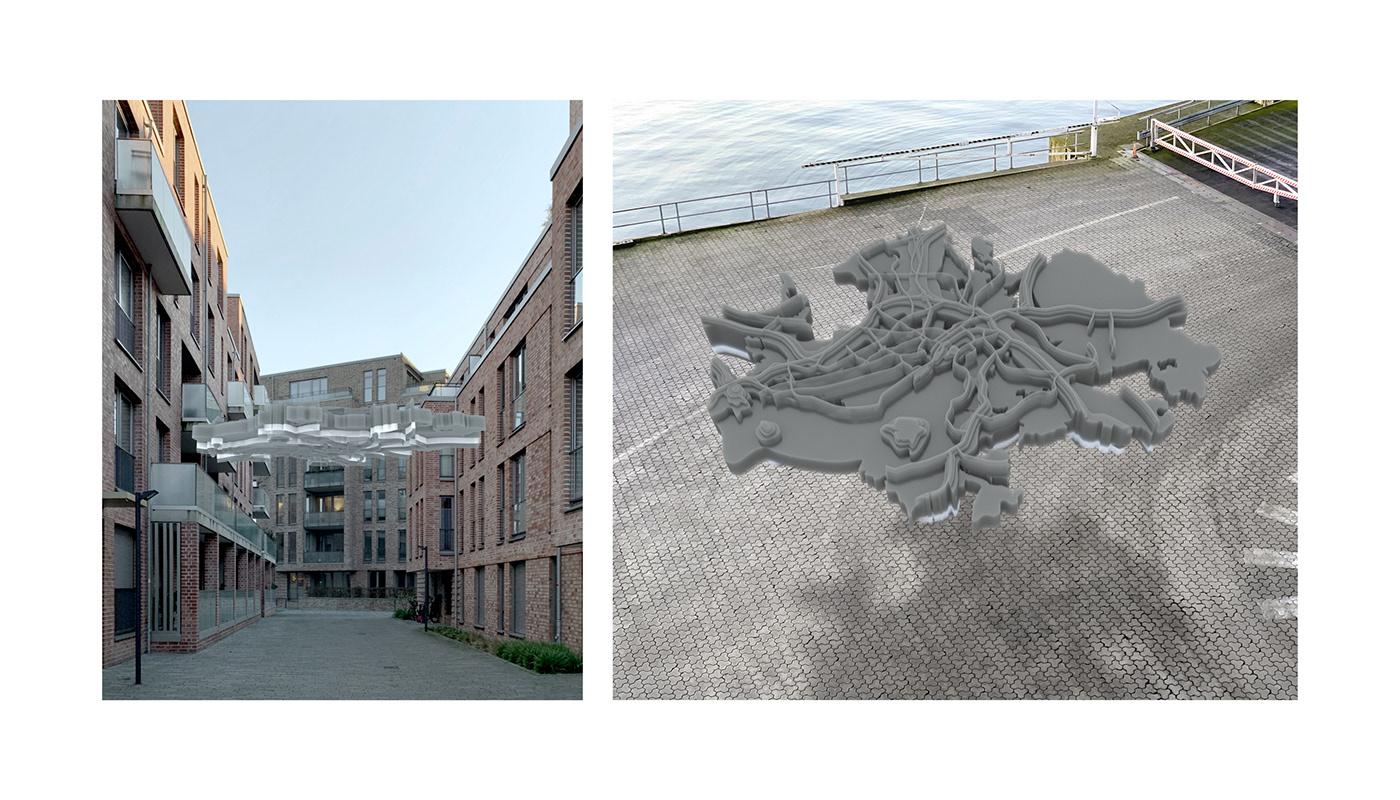 cloud decibel environment installation Kiel map noise Noise Pollution public space Urban