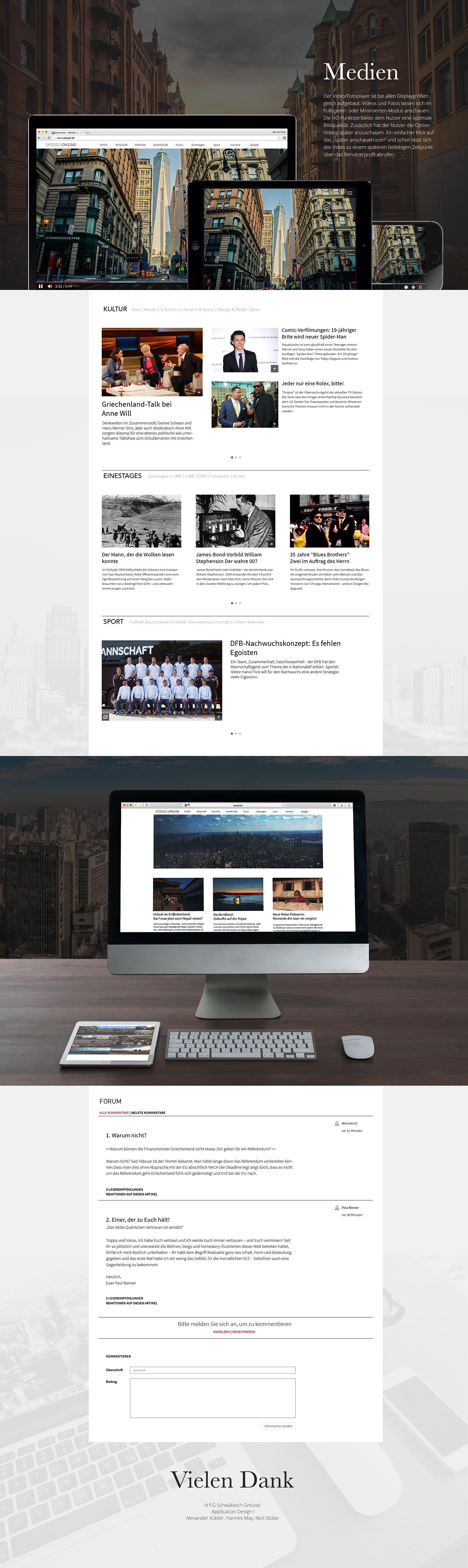 spiegel online redesign Website mobile app UI Application Design
