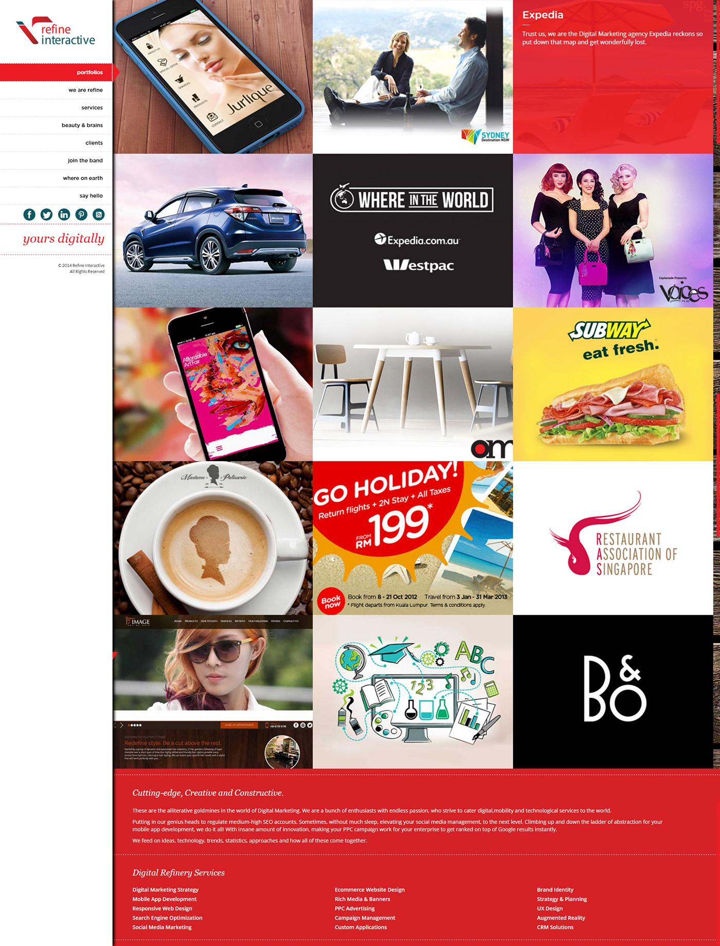 Adobe Portfolio Refine Interactive