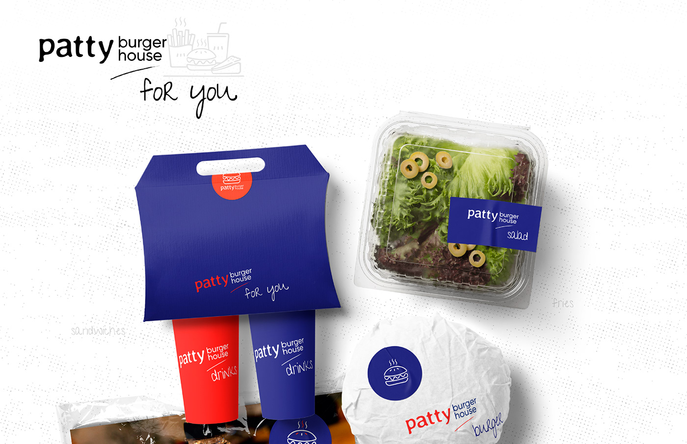 Apparel Design brand identity branding  Burger Branding Line Art Logo logo logo designer menu design packaging design visual identity